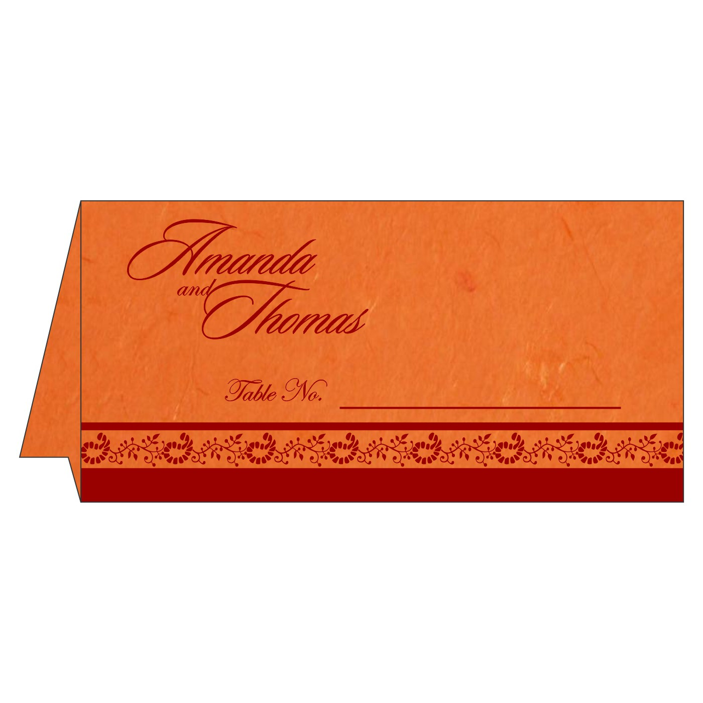 Table Cards : CTC-8208G - IndianWeddingCards