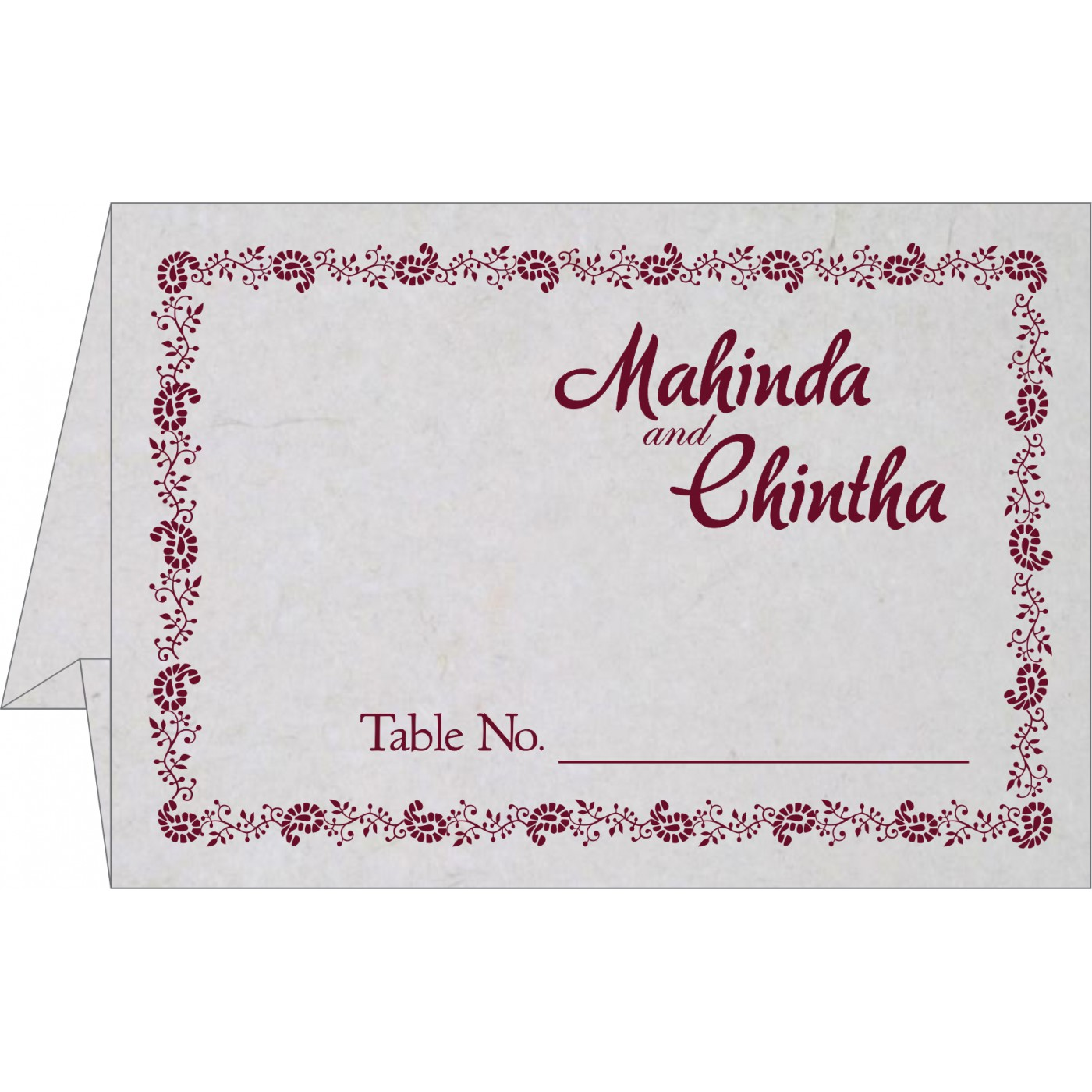 Table Cards : TC-8208I
