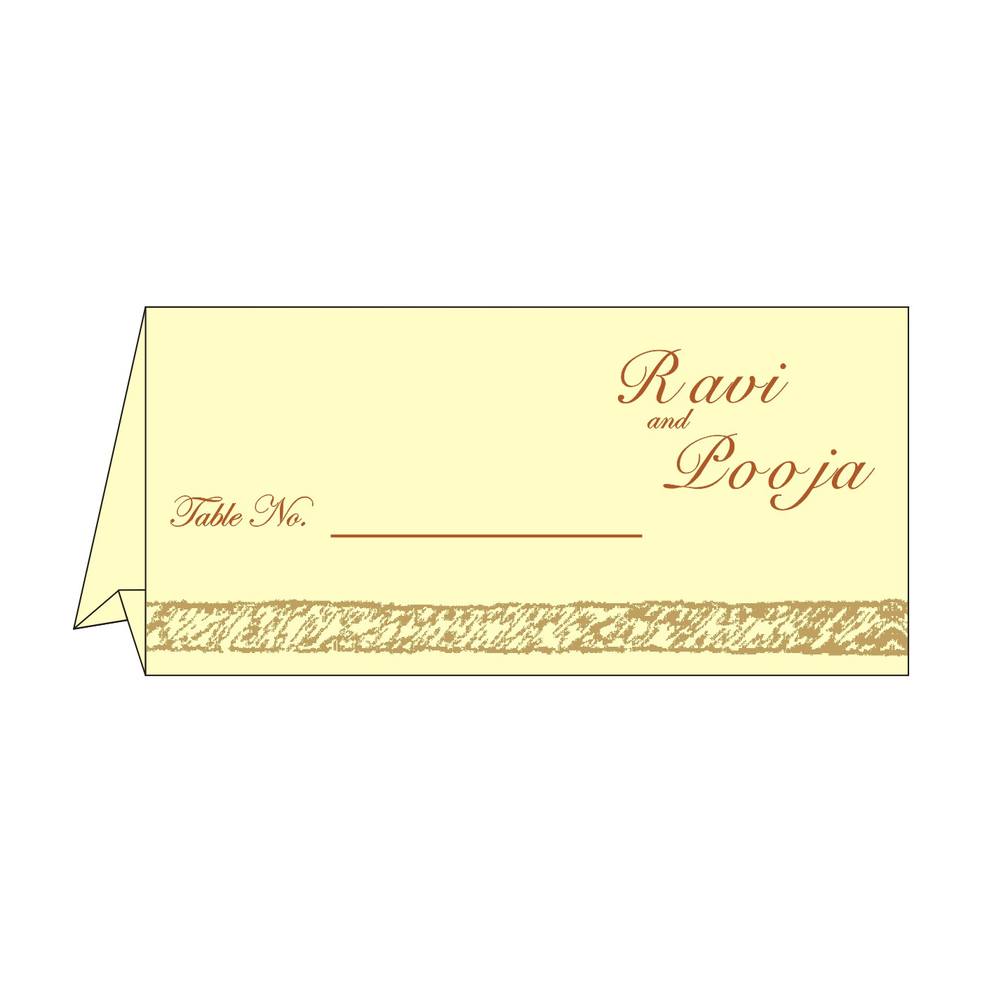 Table Cards : CTC-8209D - IndianWeddingCards