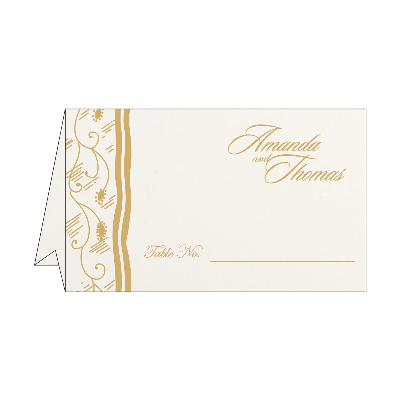 Table Cards : CTC-8210C - IndianWeddingCards