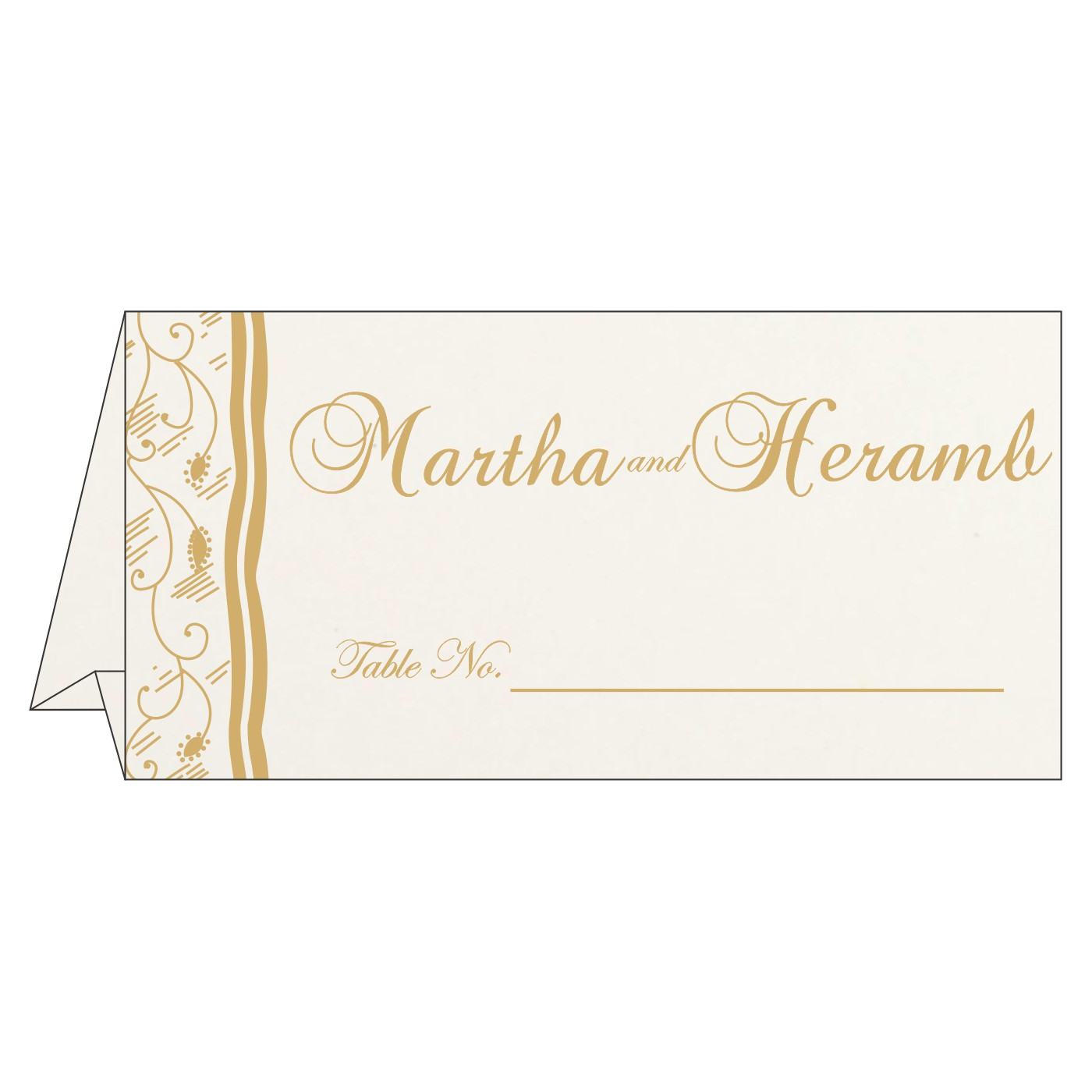 Table Cards : CTC-8210D - IndianWeddingCards