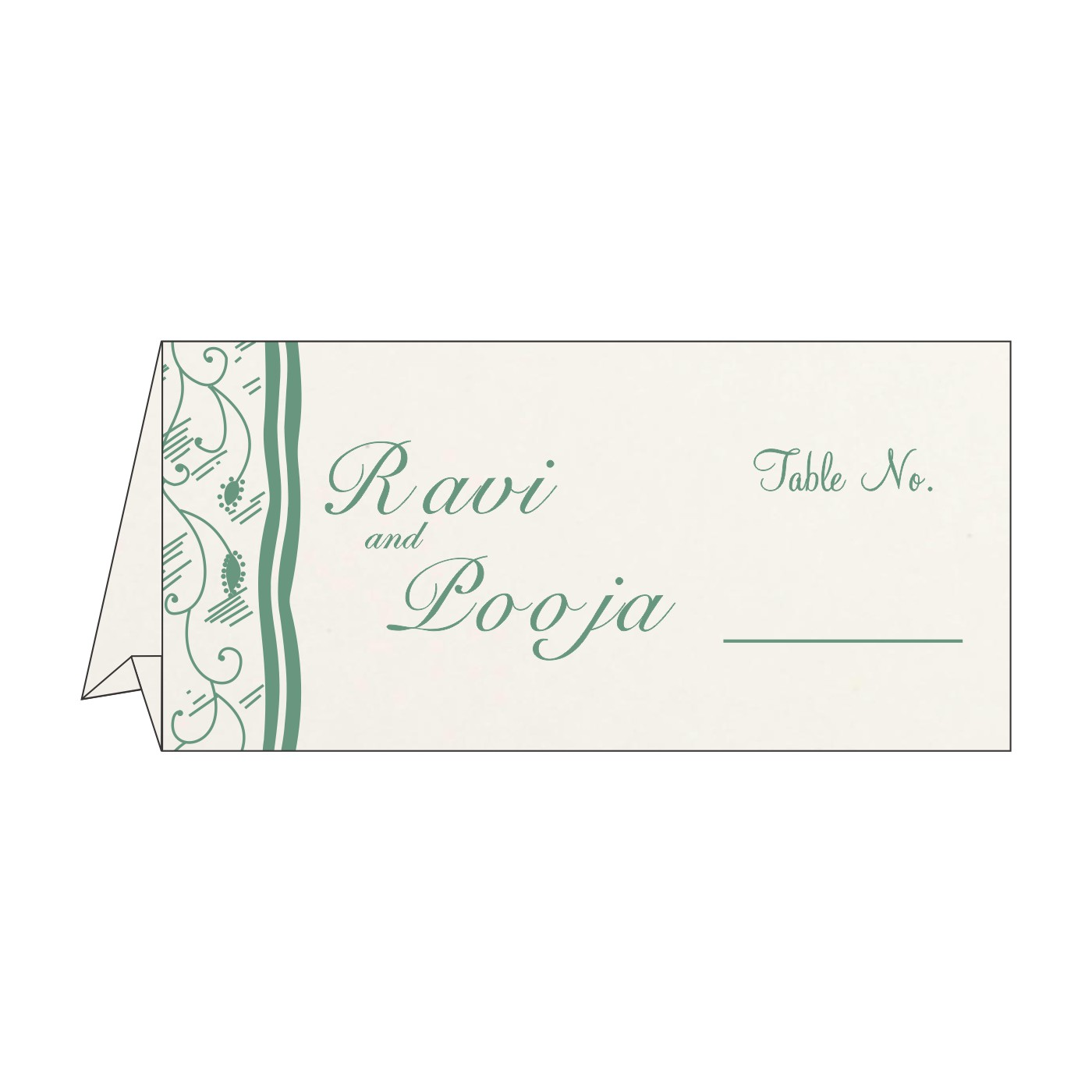 Table Cards : CTC-8210E - IndianWeddingCards