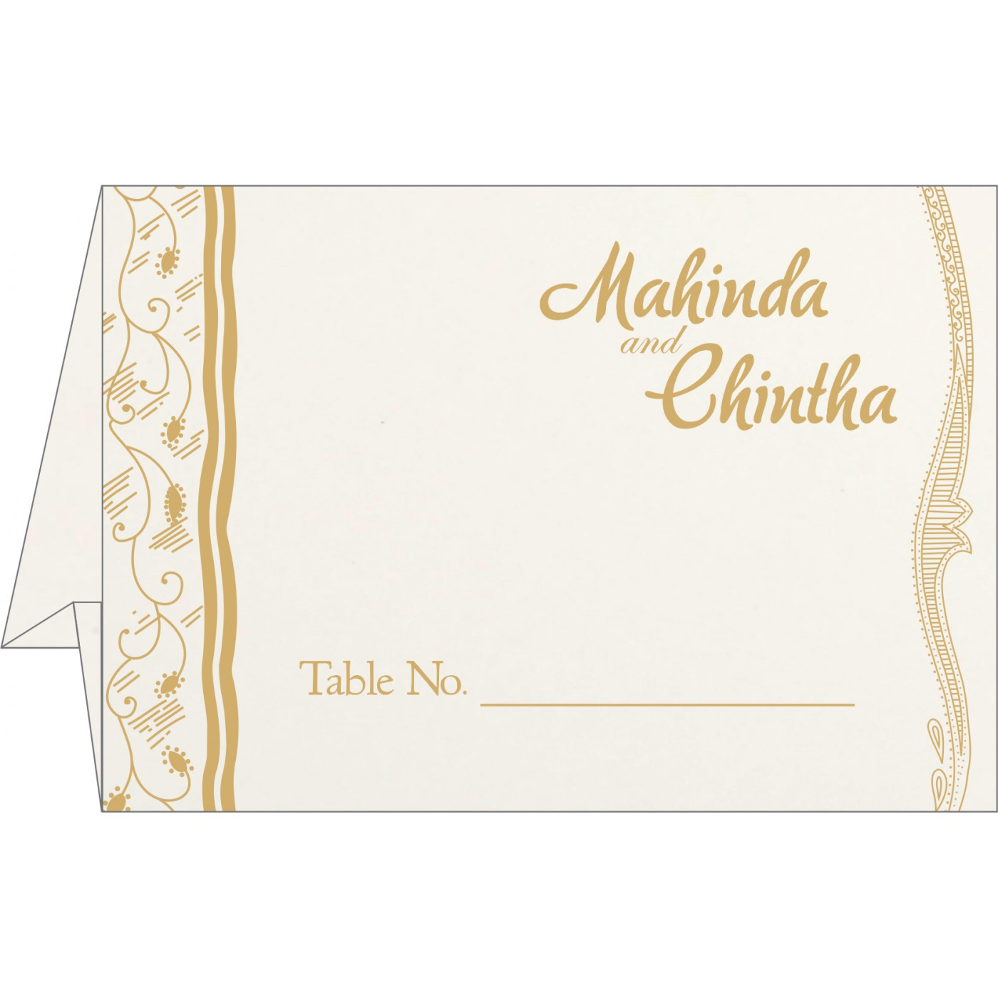 Table Cards : CTC-8210F - IndianWeddingCards