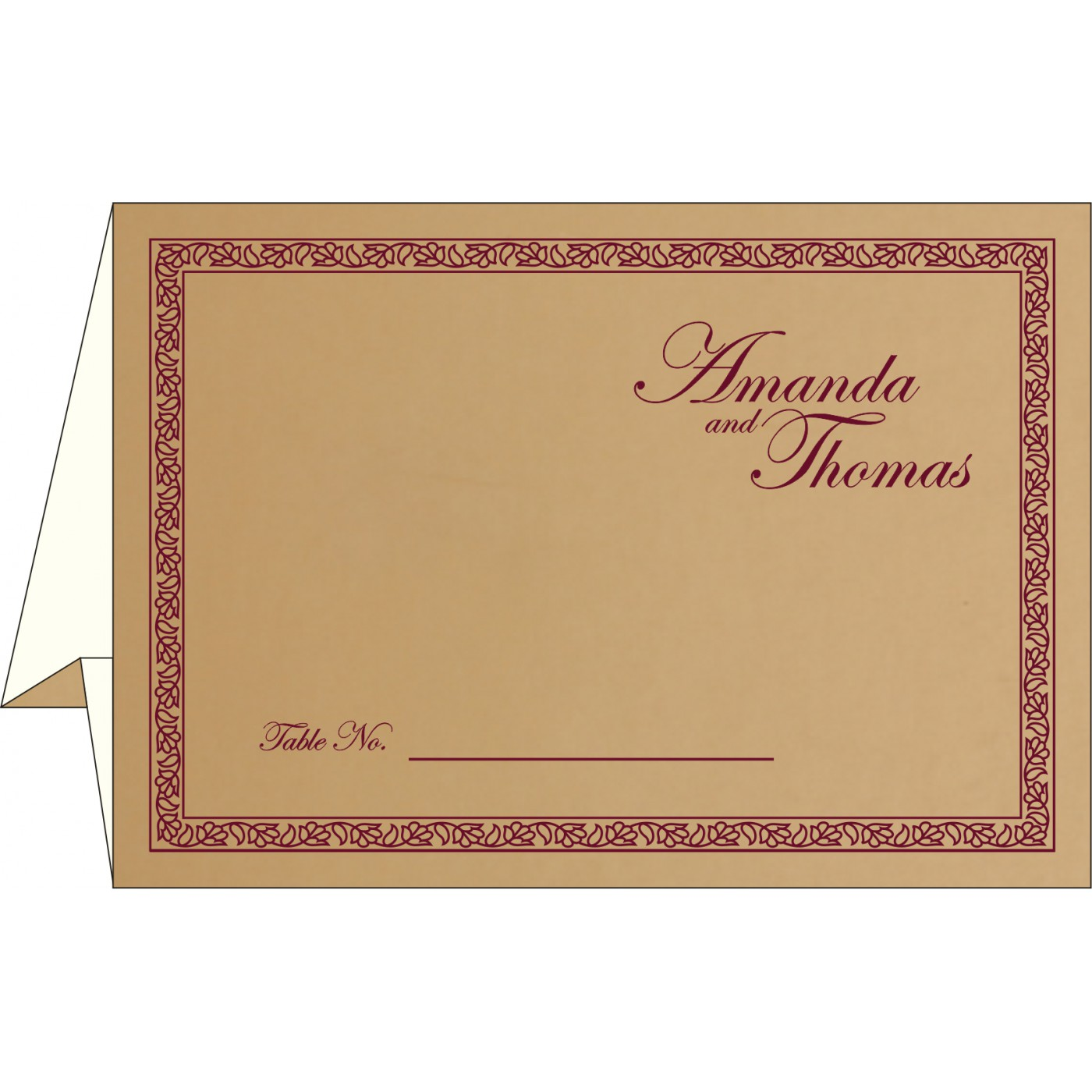 Table Cards : CTC-8211A - IndianWeddingCards