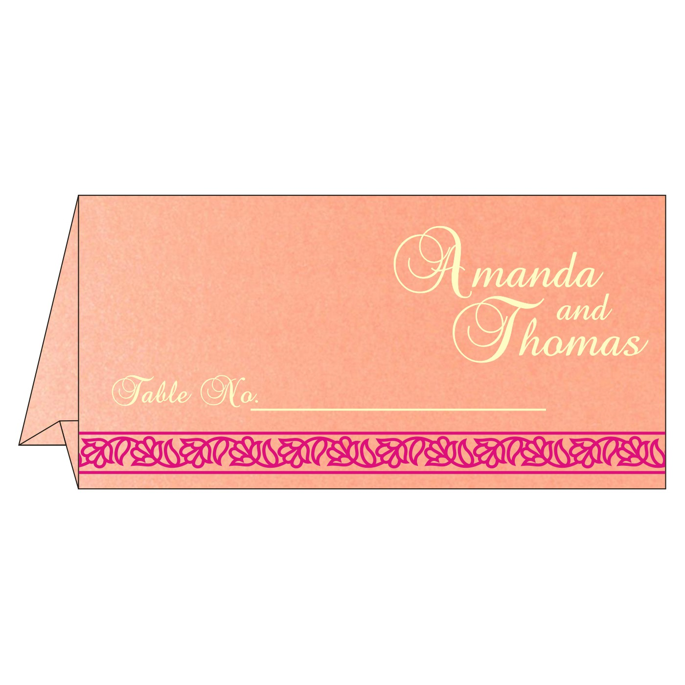 Table Cards : CTC-8211D - IndianWeddingCards