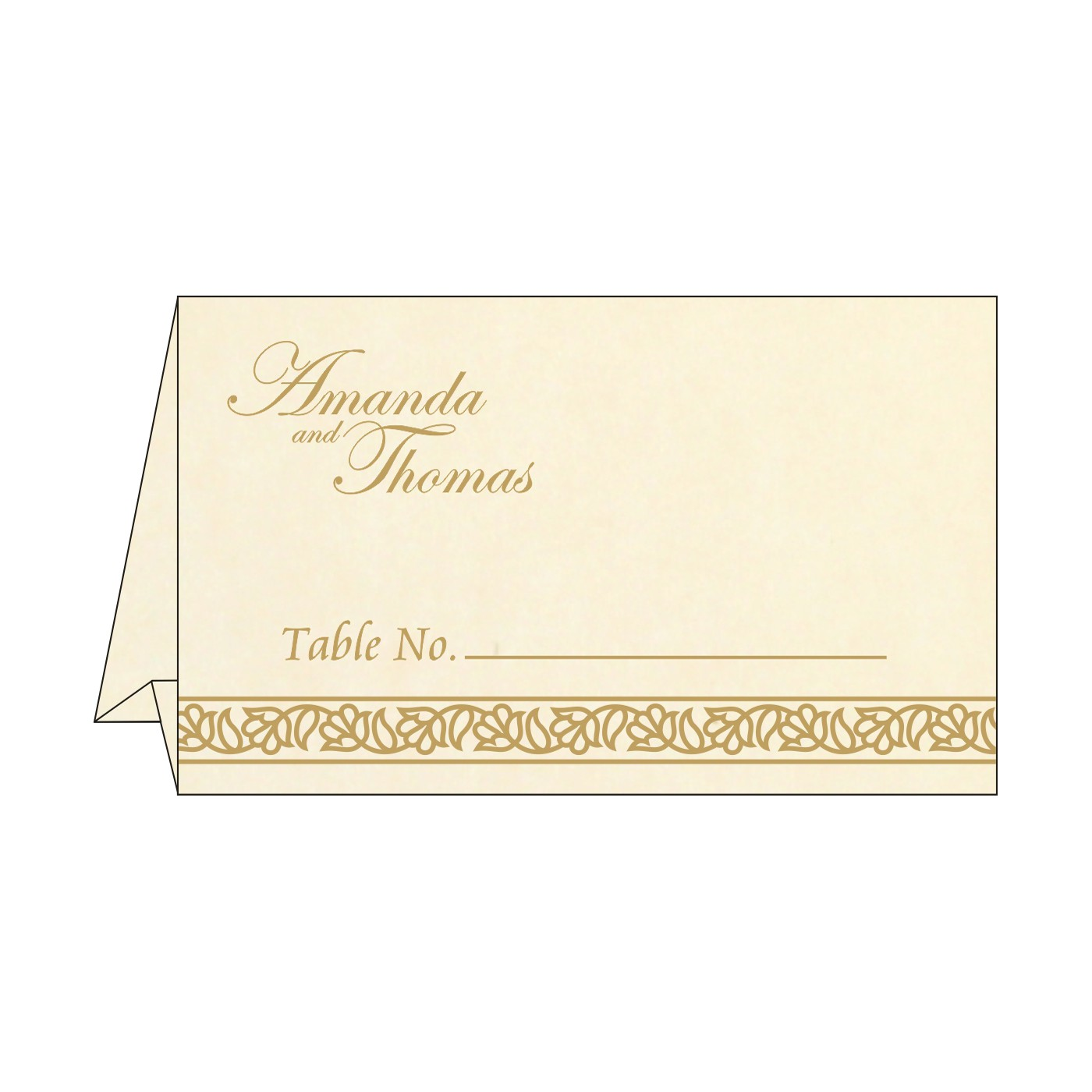 Table Cards : CTC-8211G - IndianWeddingCards