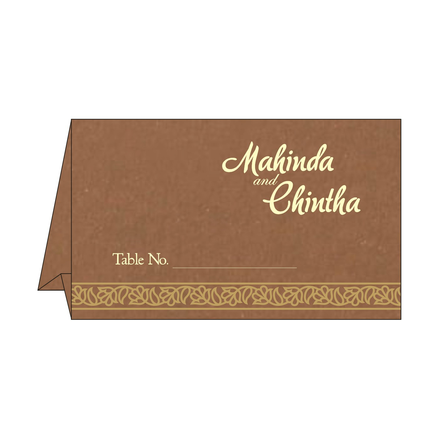 Table Cards : CTC-8211L - IndianWeddingCards