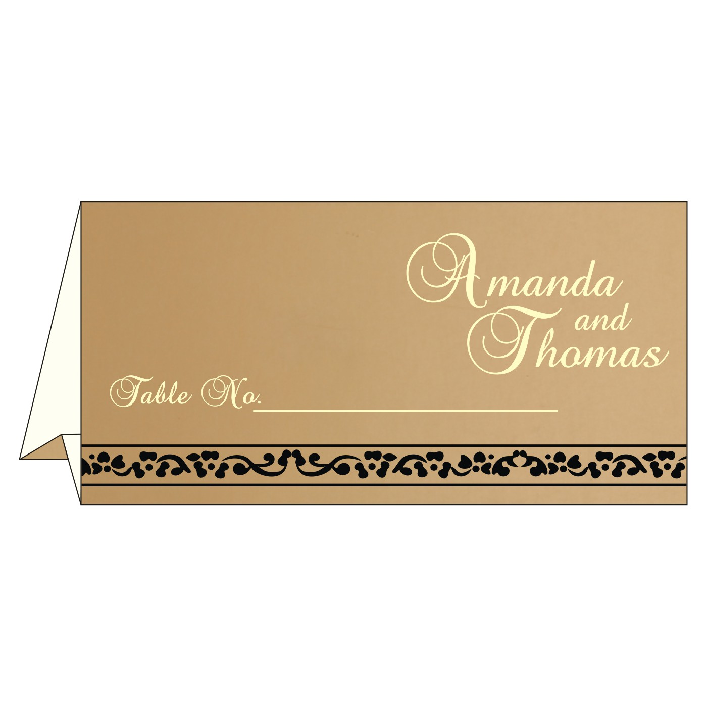 Table Cards : CTC-8214D - IndianWeddingCards