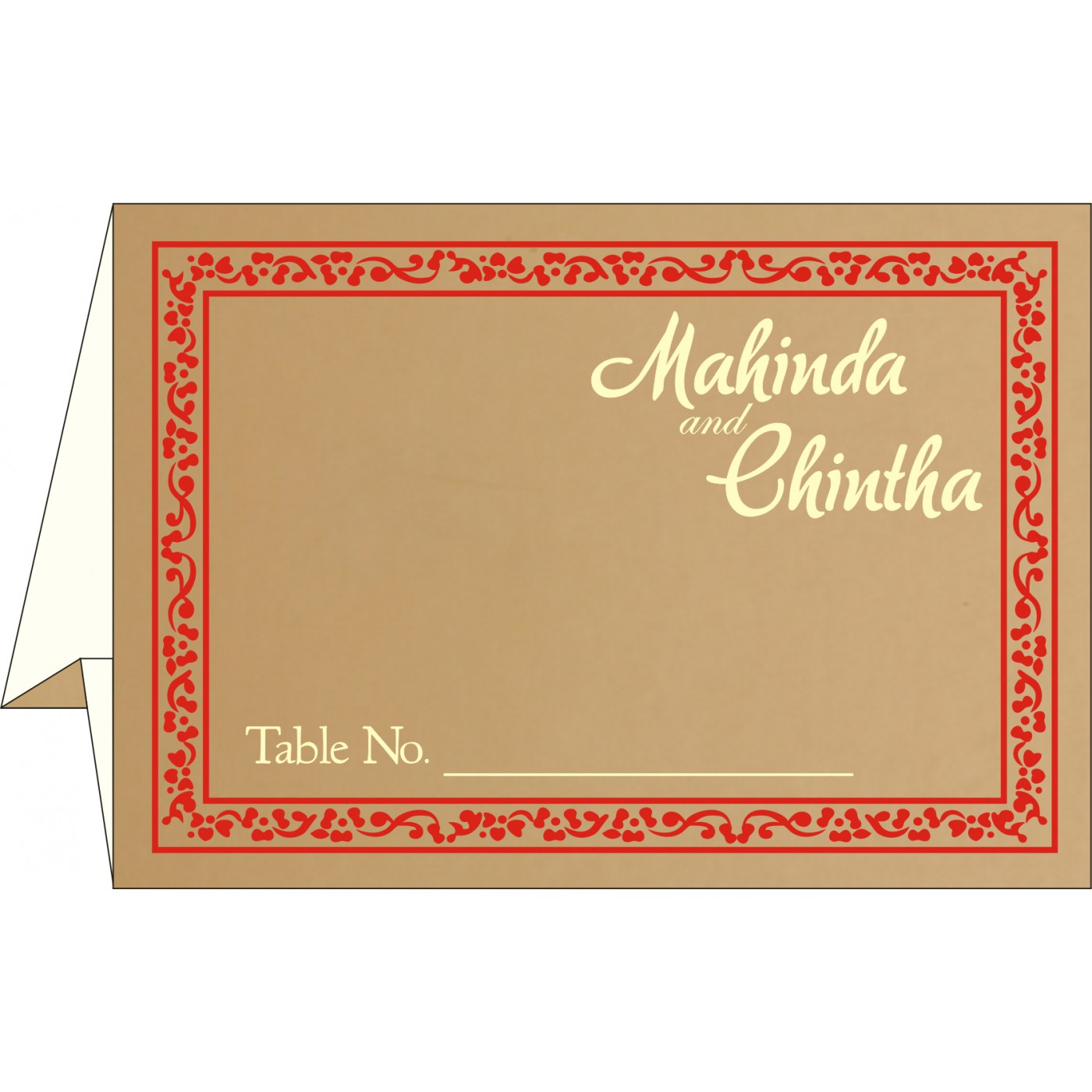 Table Cards : CTC-8214F - IndianWeddingCards