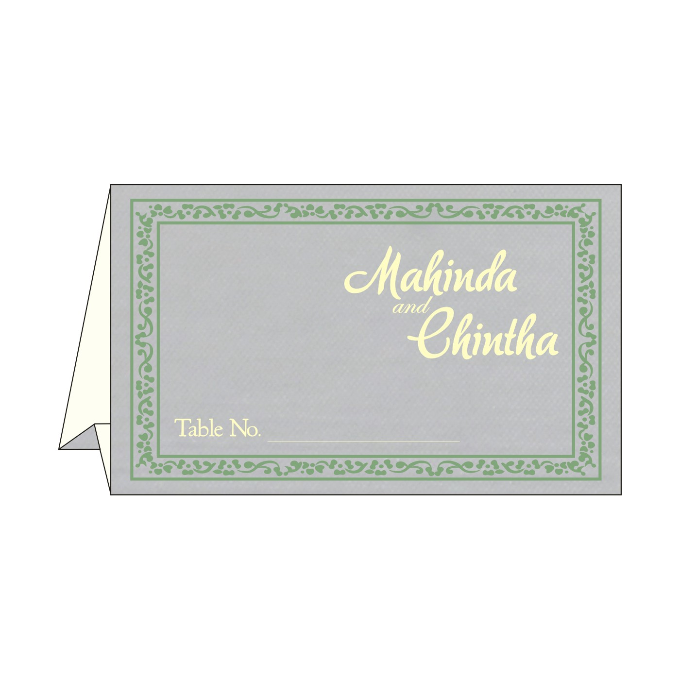 Table Cards : CTC-8214P - IndianWeddingCards