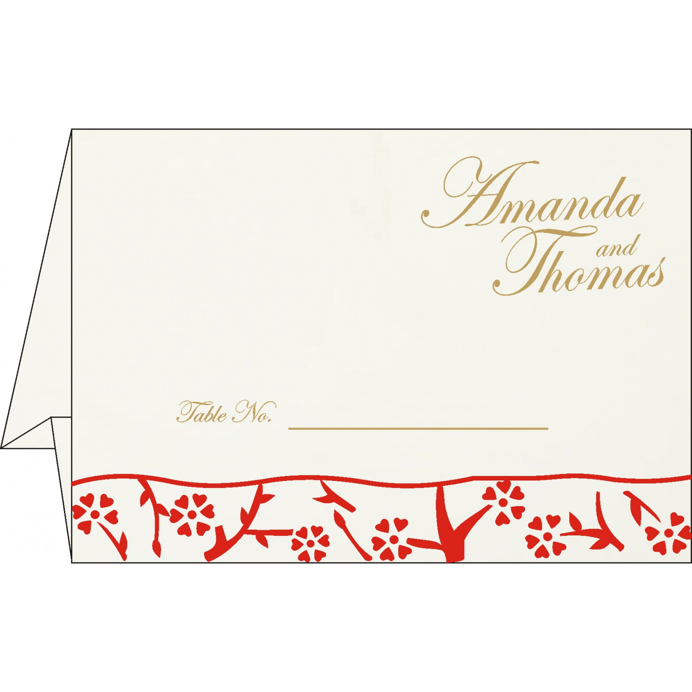 Table Cards : CTC-8216A - IndianWeddingCards