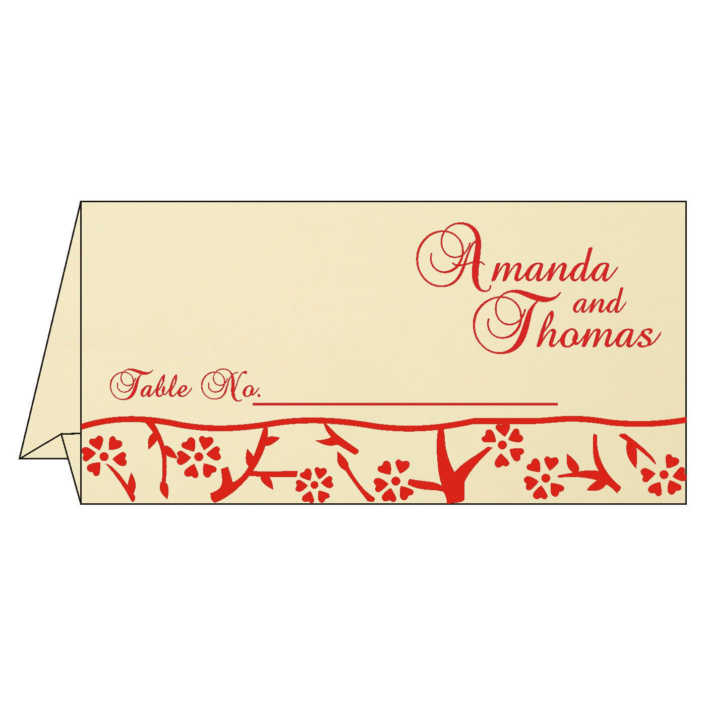 Table Cards : CTC-8216C - IndianWeddingCards