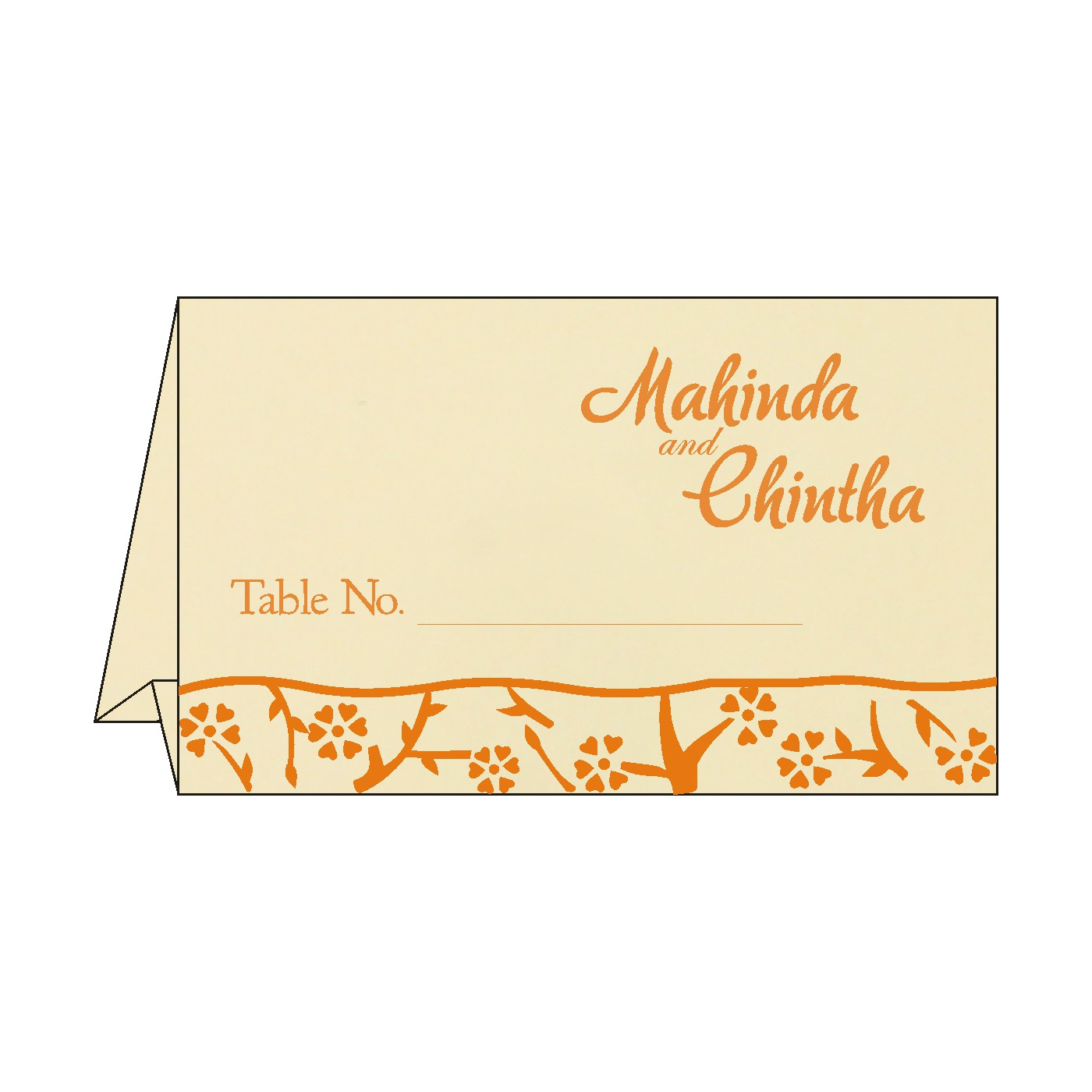 Table Cards : CTC-8216O - IndianWeddingCards