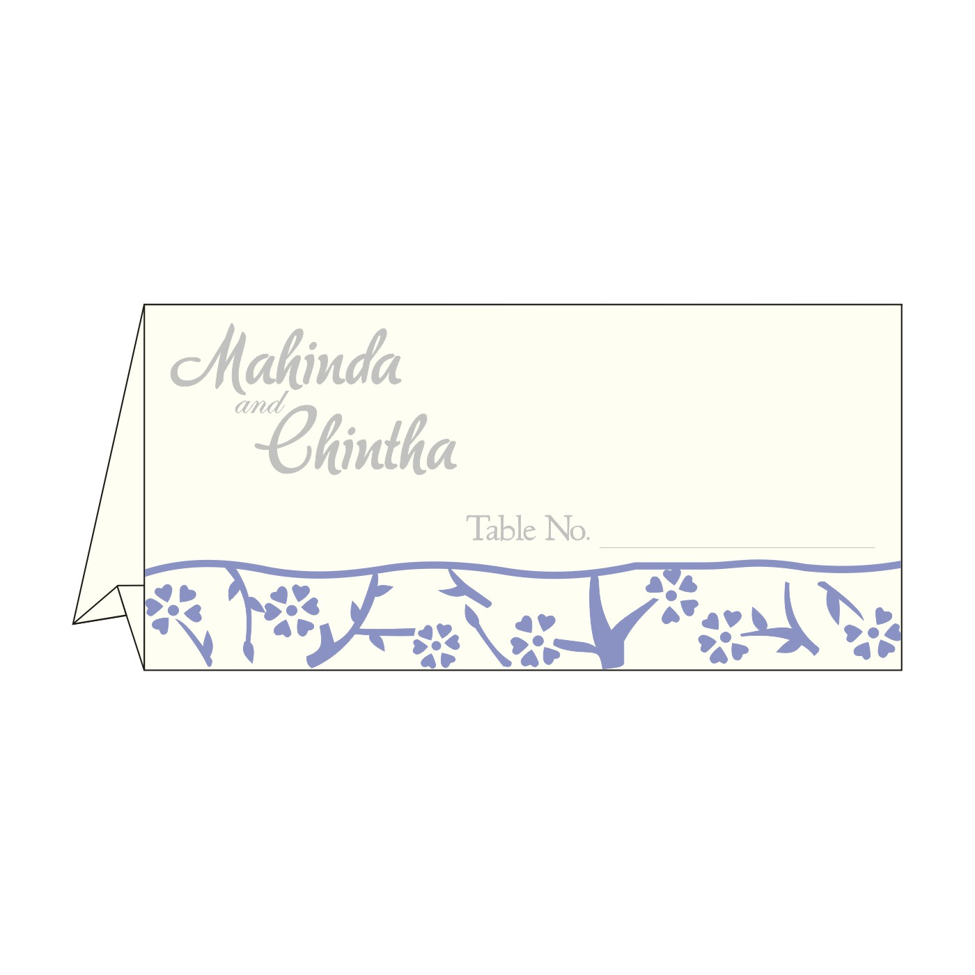 Table Cards : CTC-8216Q - IndianWeddingCards