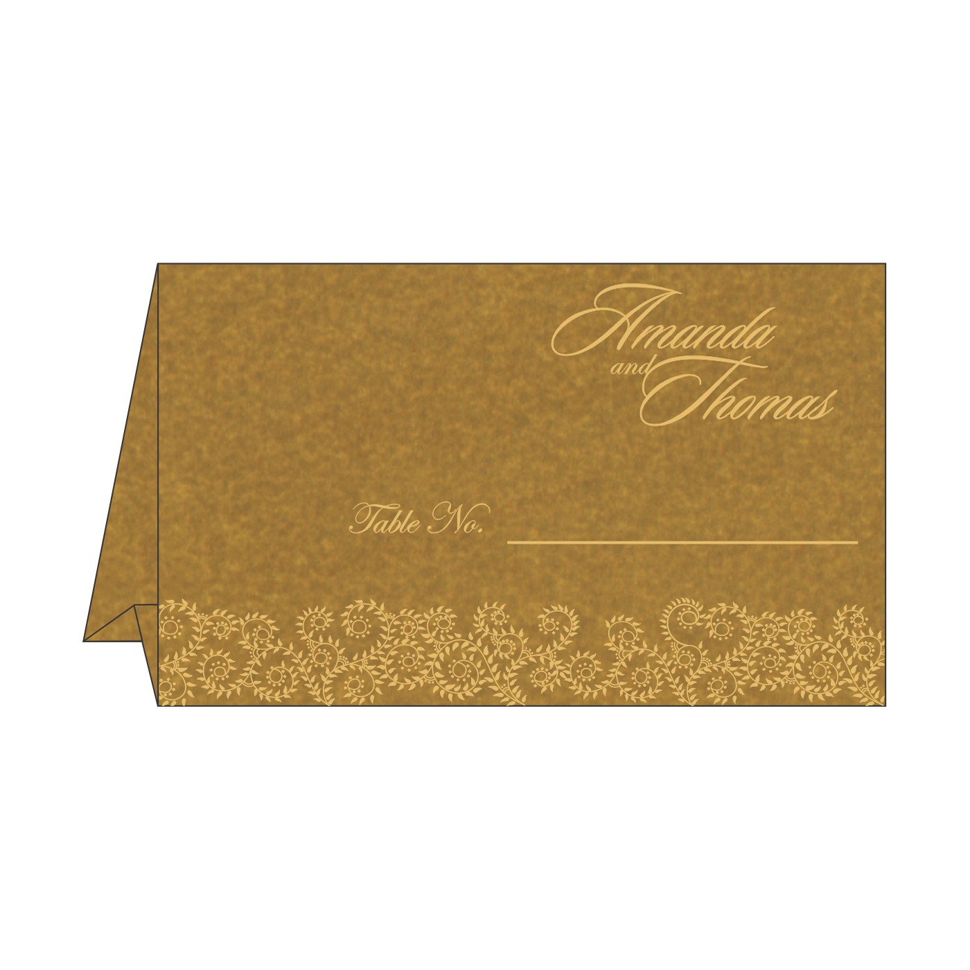 Table Cards : CTC-8217C - IndianWeddingCards