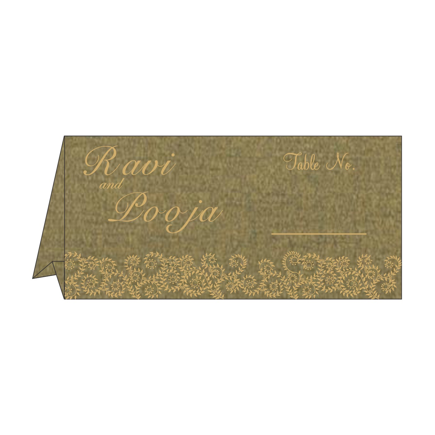 Table Cards : CTC-8217H - IndianWeddingCards
