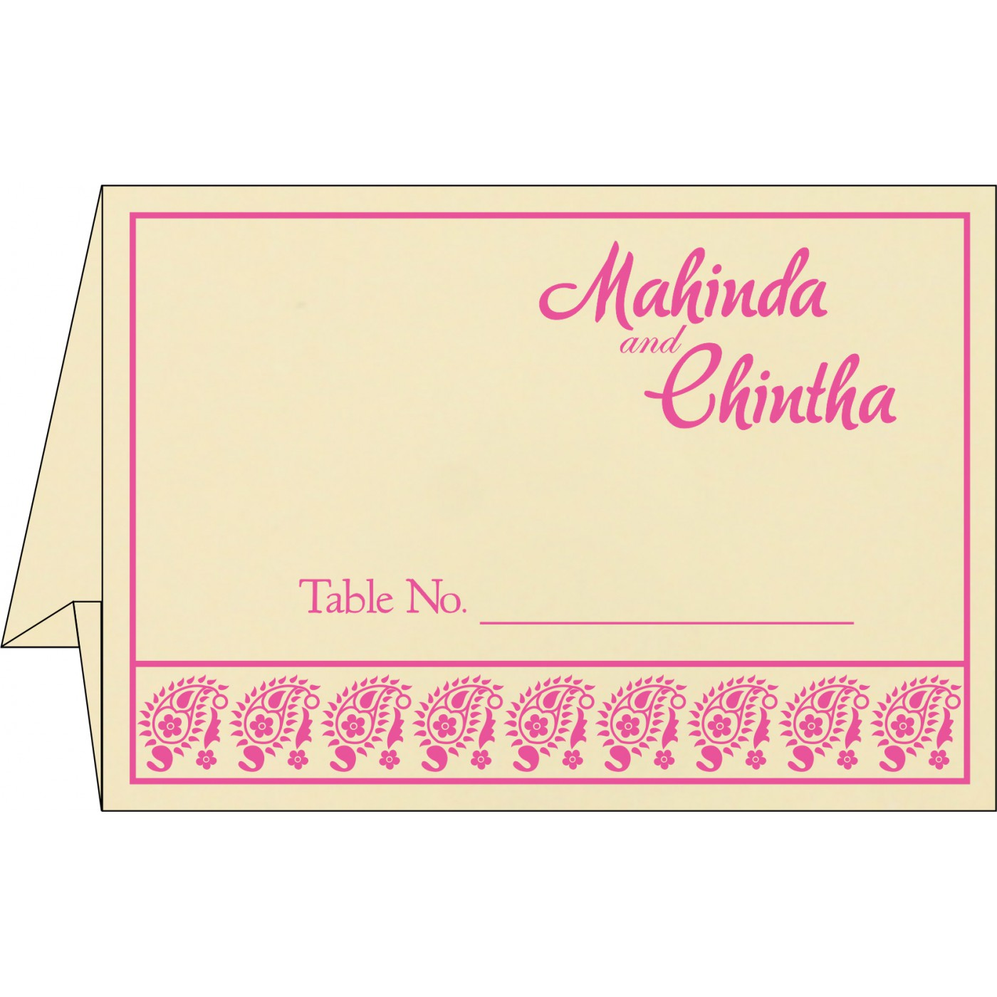 Table Cards : CTC-8218F - IndianWeddingCards