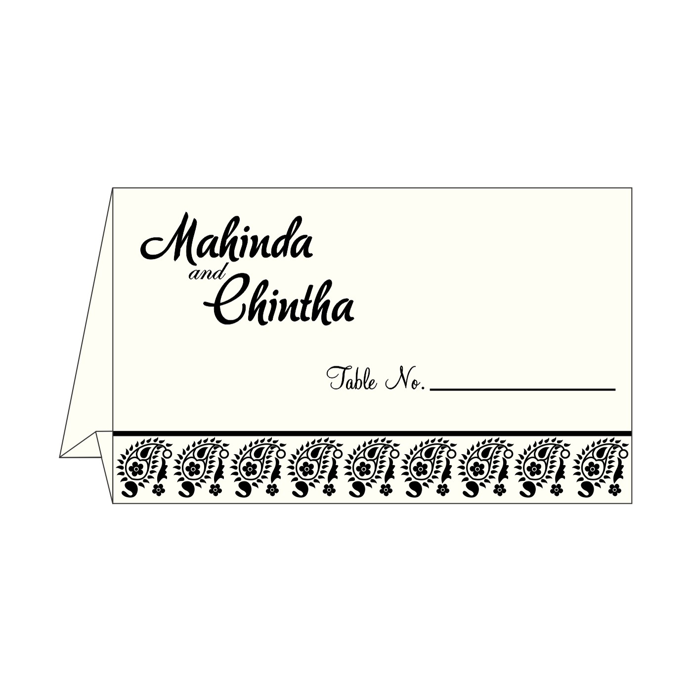 Table Cards : CTC-8218L - IndianWeddingCards