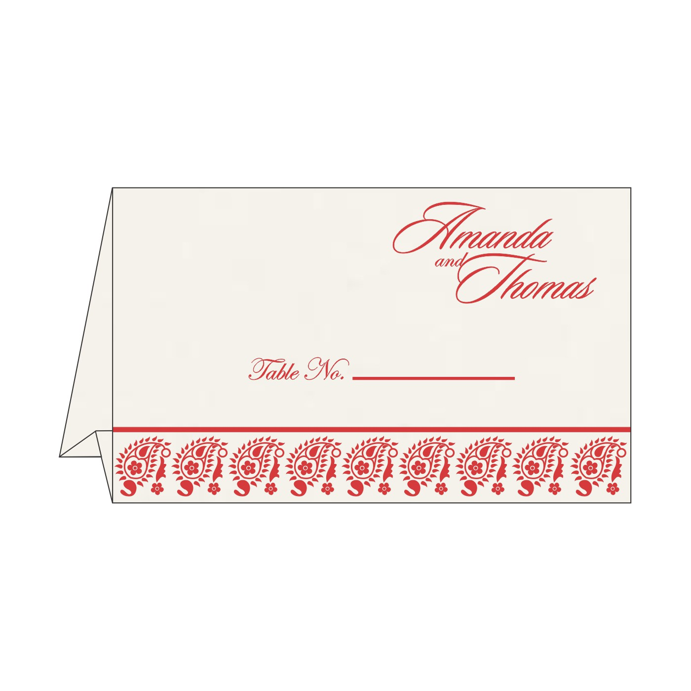 Table Cards : CTC-8218M - IndianWeddingCards