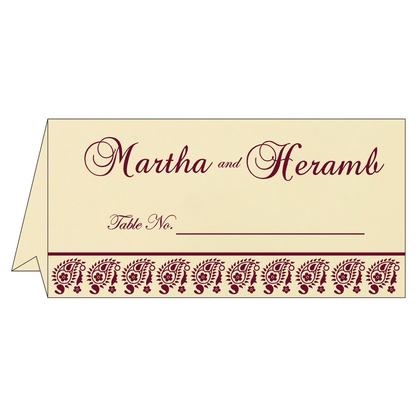 Table Cards : CTC-8218N - IndianWeddingCards