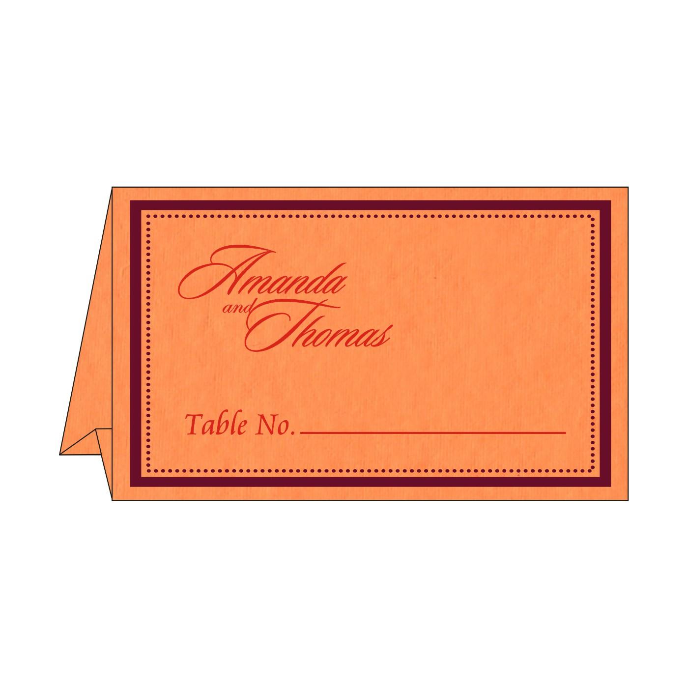 Table Cards : CTC-8219B - IndianWeddingCards