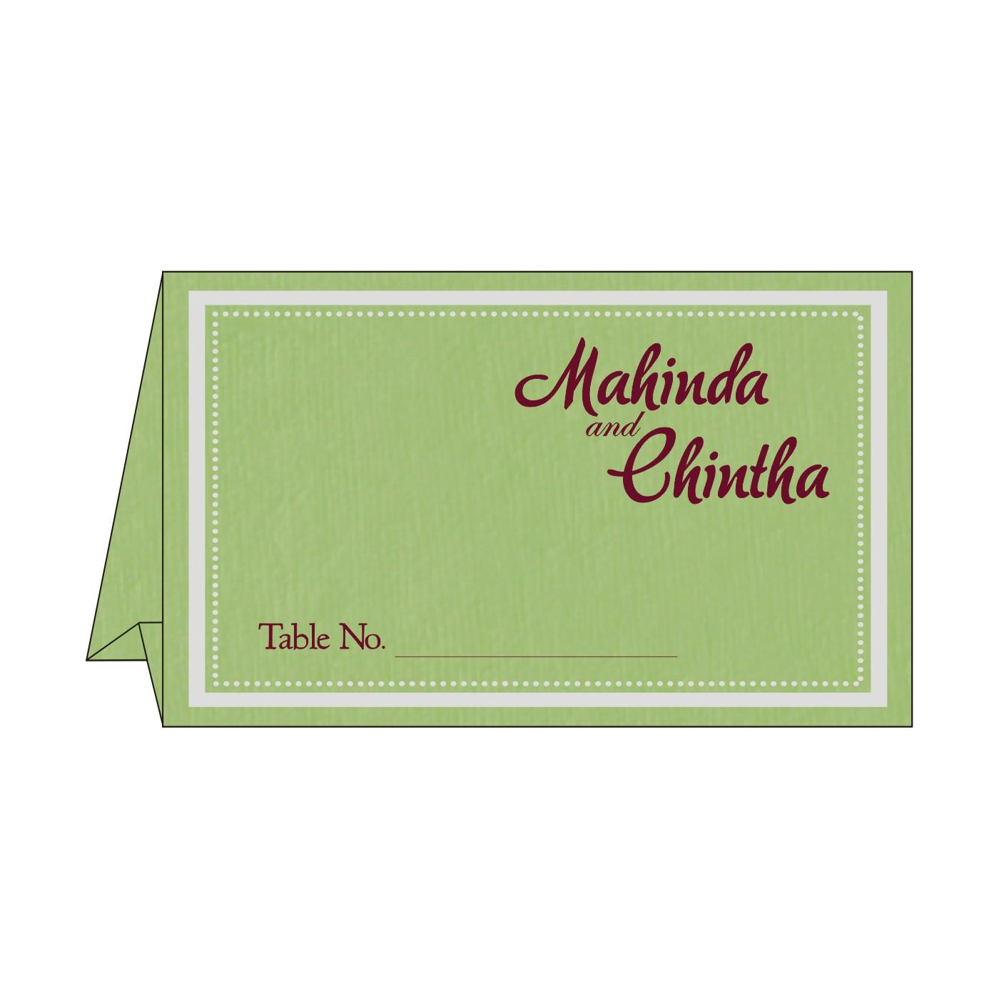 Table Cards : CTC-8219J - IndianWeddingCards