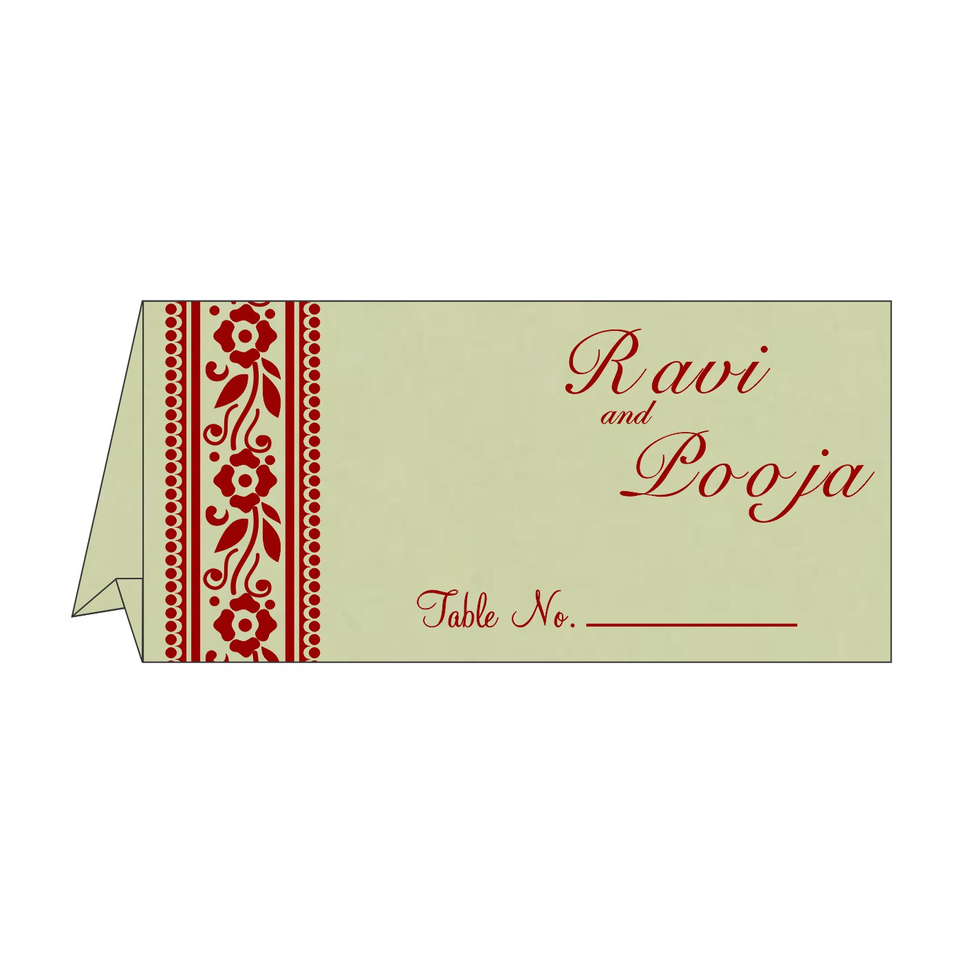Table Cards : CTC-8220G - IndianWeddingCards