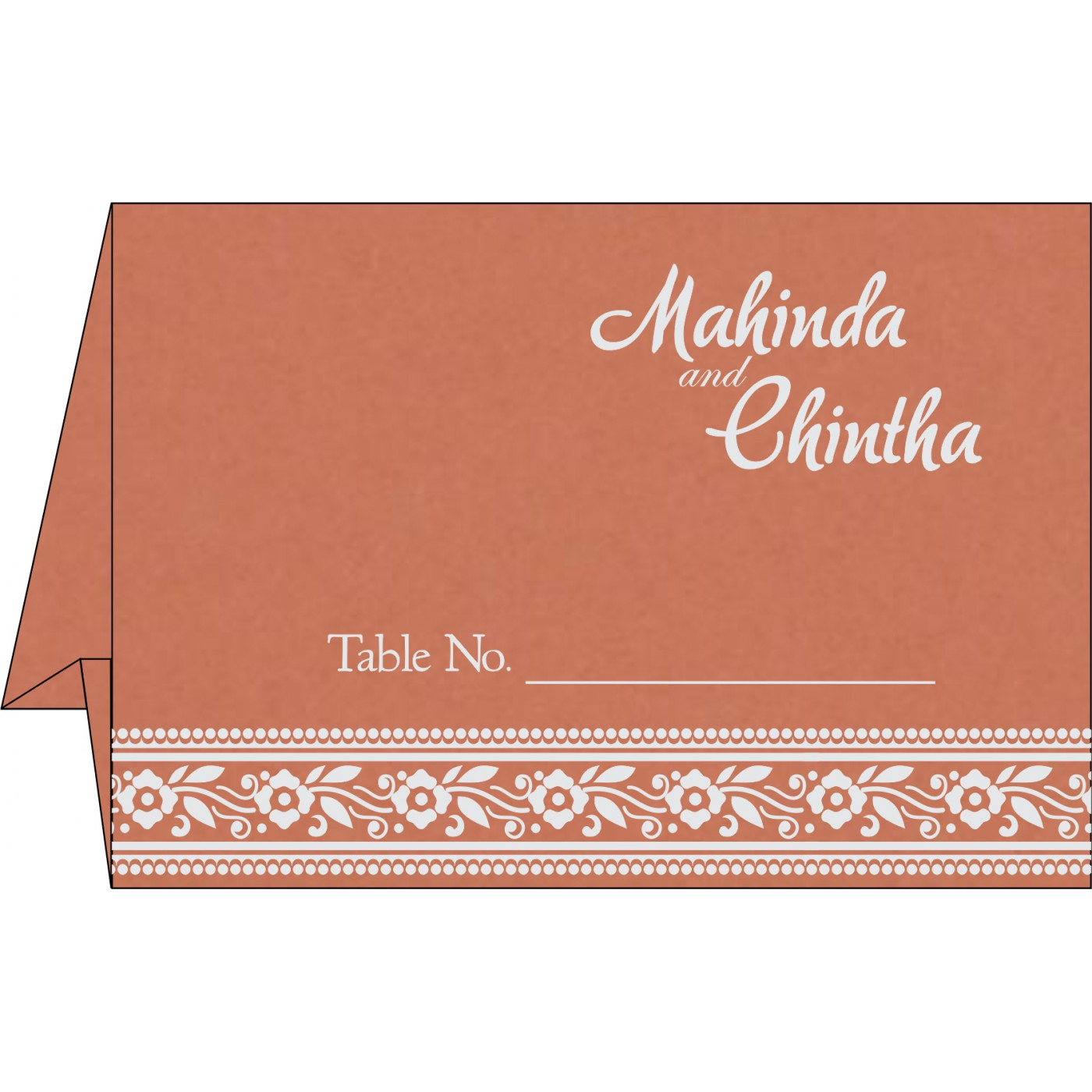 Table Cards : CTC-8220H - IndianWeddingCards