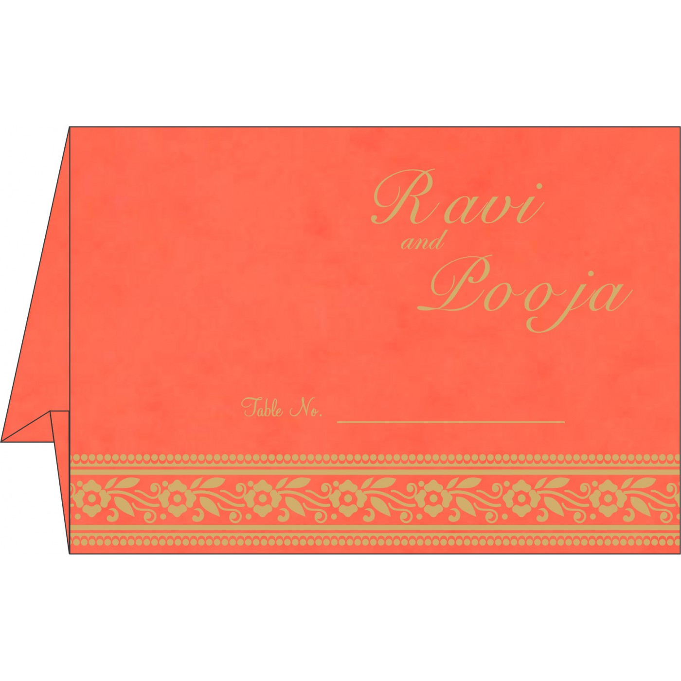 Table Cards : CTC-8220N - IndianWeddingCards