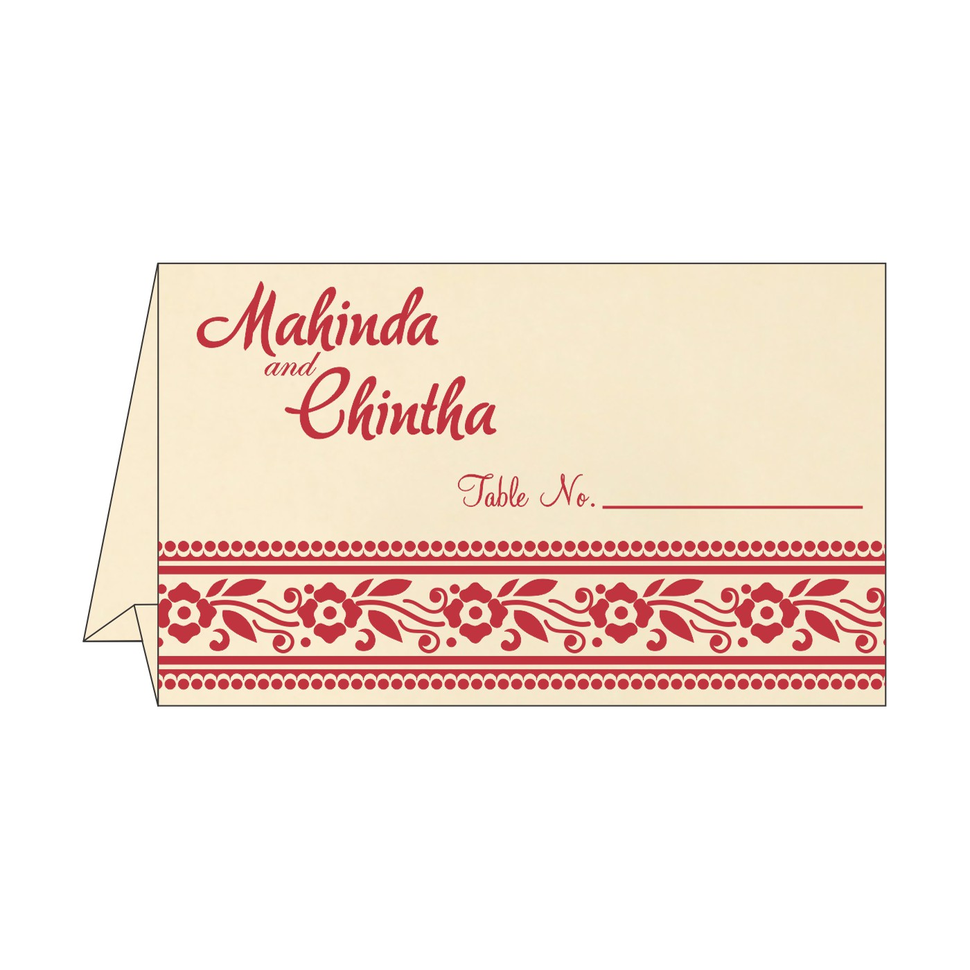 Table Cards : CTC-8220O - IndianWeddingCards
