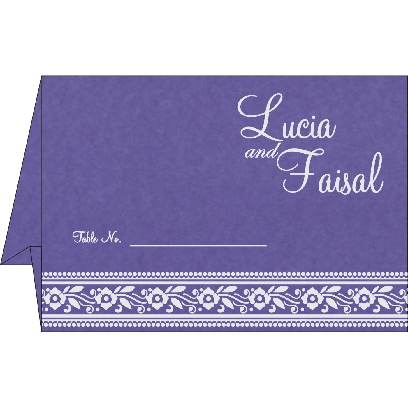 Table Cards : CTC-8220P - IndianWeddingCards