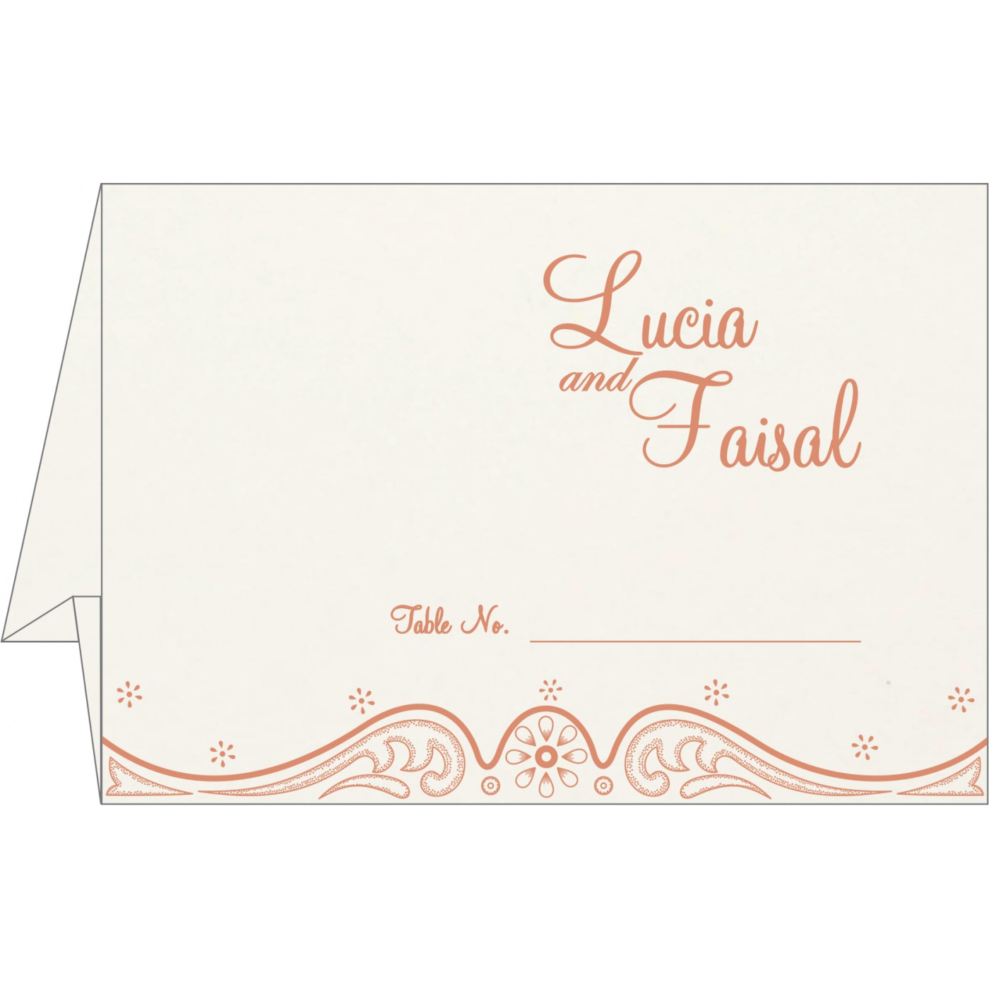 Table Cards : CTC-8221B - IndianWeddingCards
