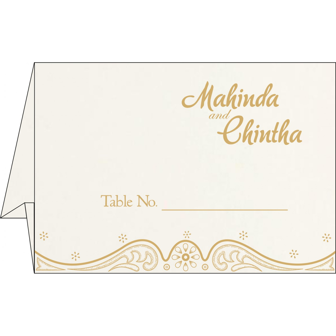 Table Cards : CTC-8221P - IndianWeddingCards