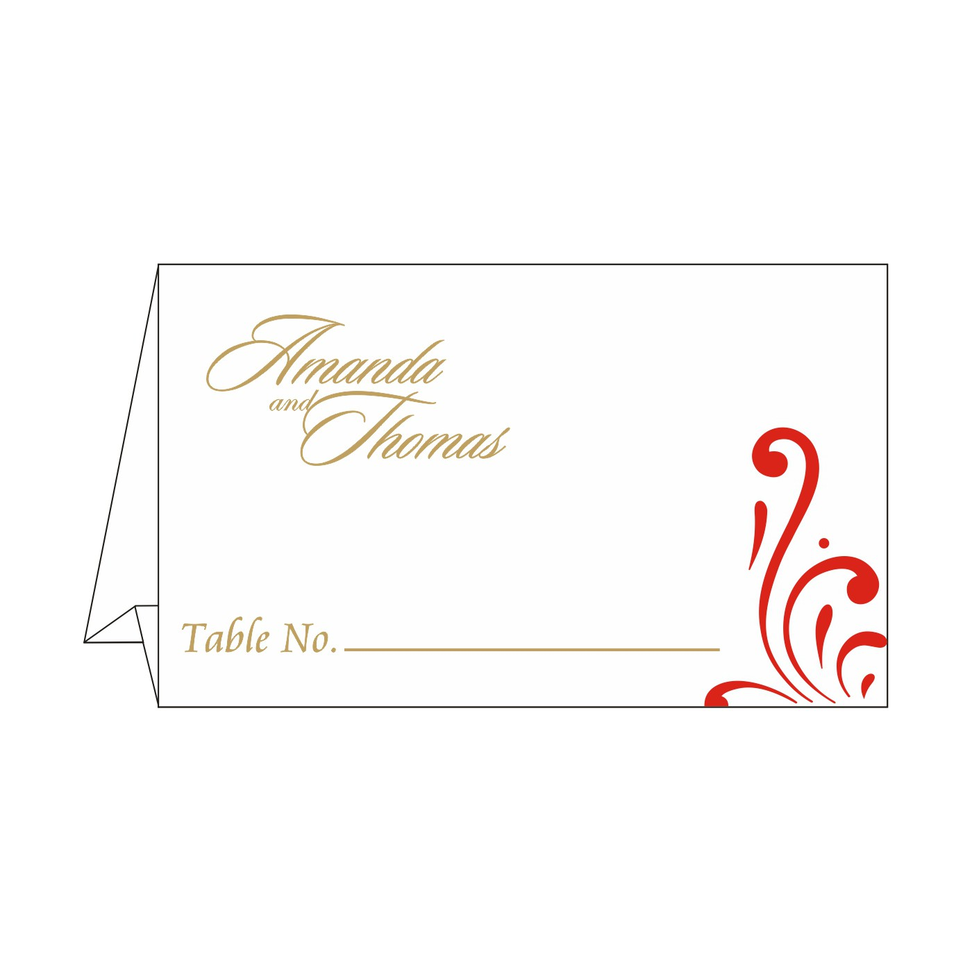 Table Cards : CTC-8223C - IndianWeddingCards
