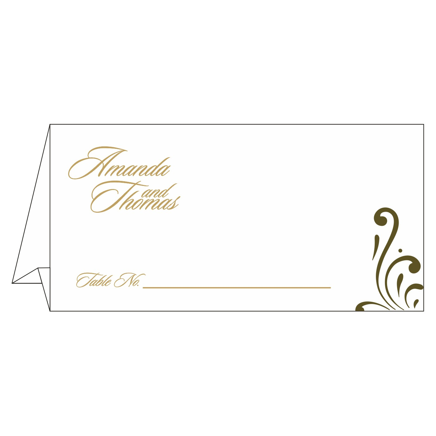 Table Cards : CTC-8223I - IndianWeddingCards
