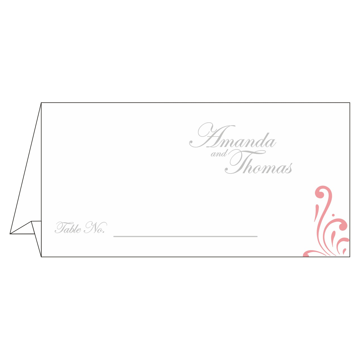 Table Cards : CTC-8223N - IndianWeddingCards