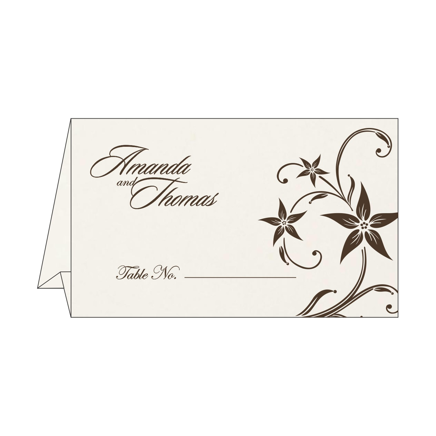 Table Cards : CTC-8225C - IndianWeddingCards