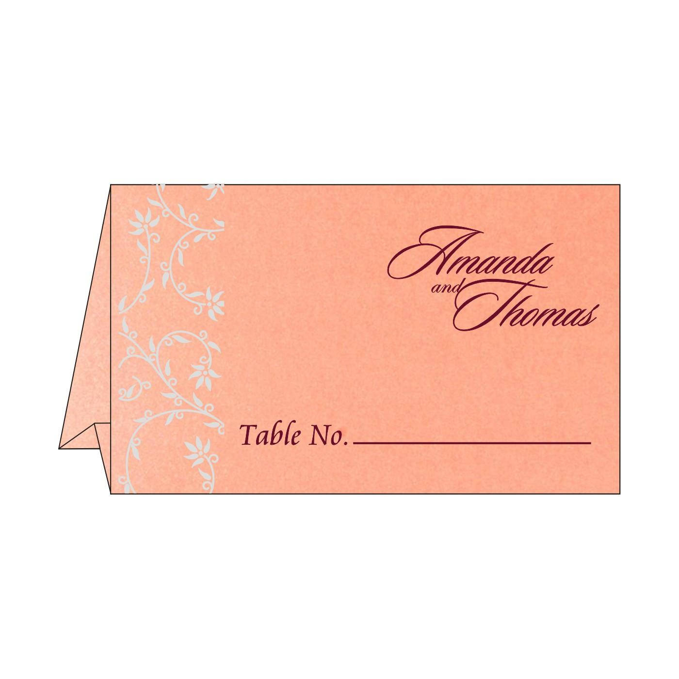 Table Cards : CTC-8226B - IndianWeddingCards