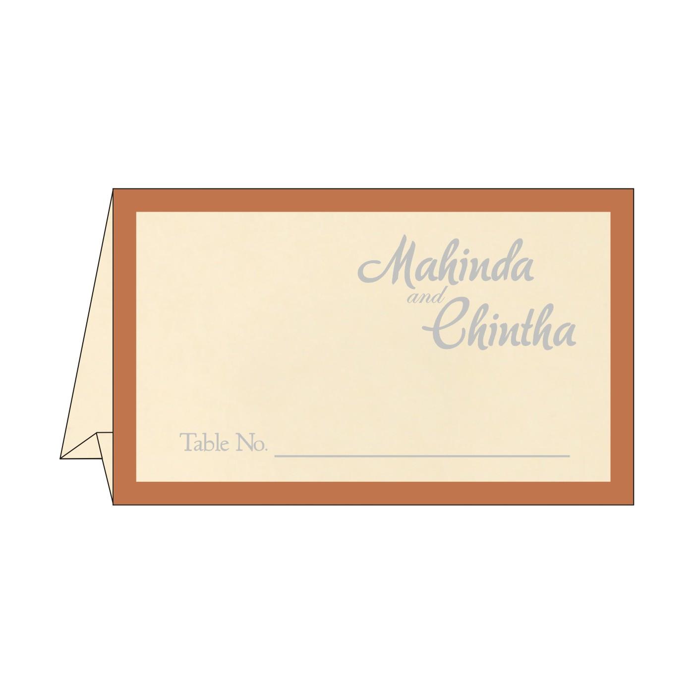 Table Cards : CTC-8229O - IndianWeddingCards