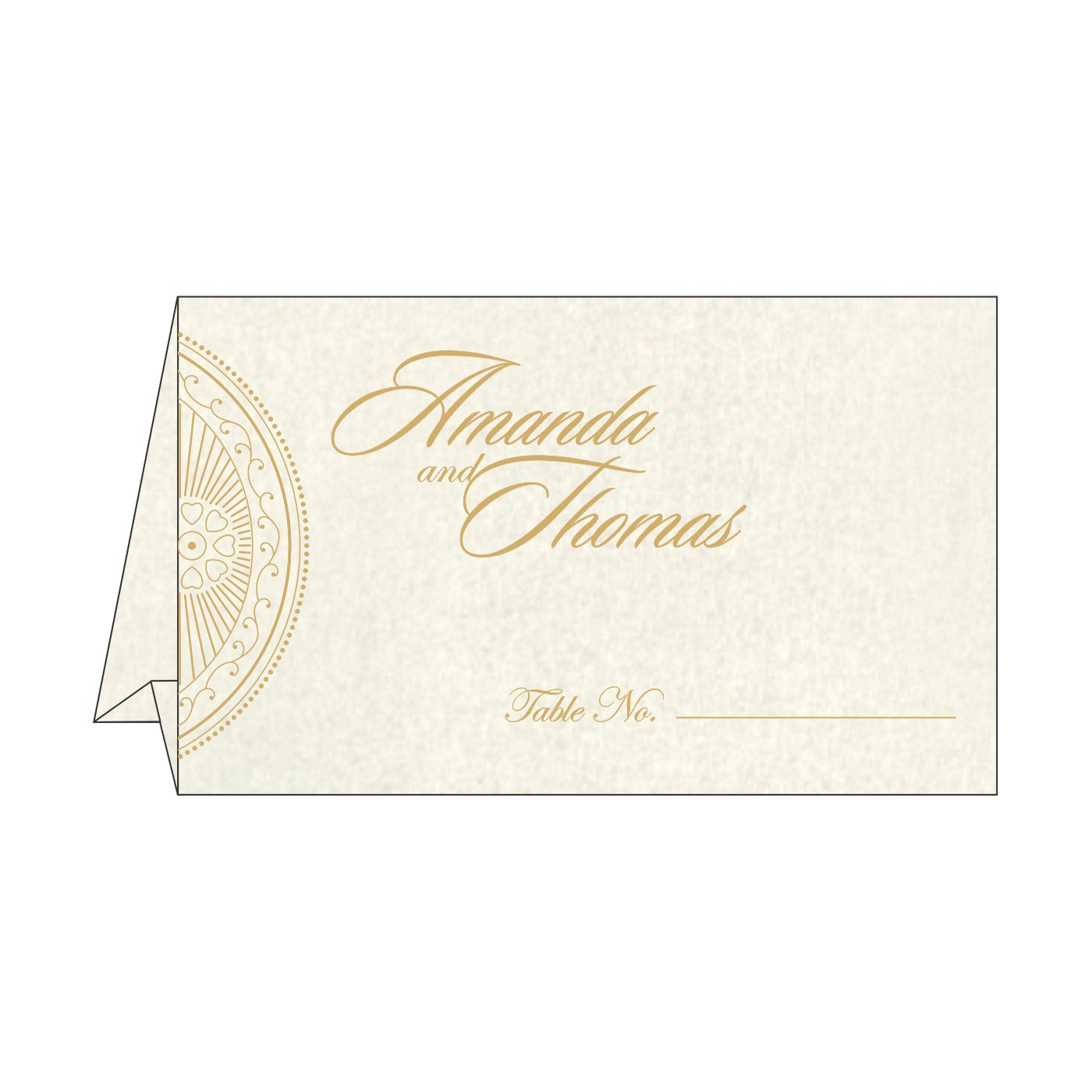 Table Cards : CTC-8230O - IndianWeddingCards