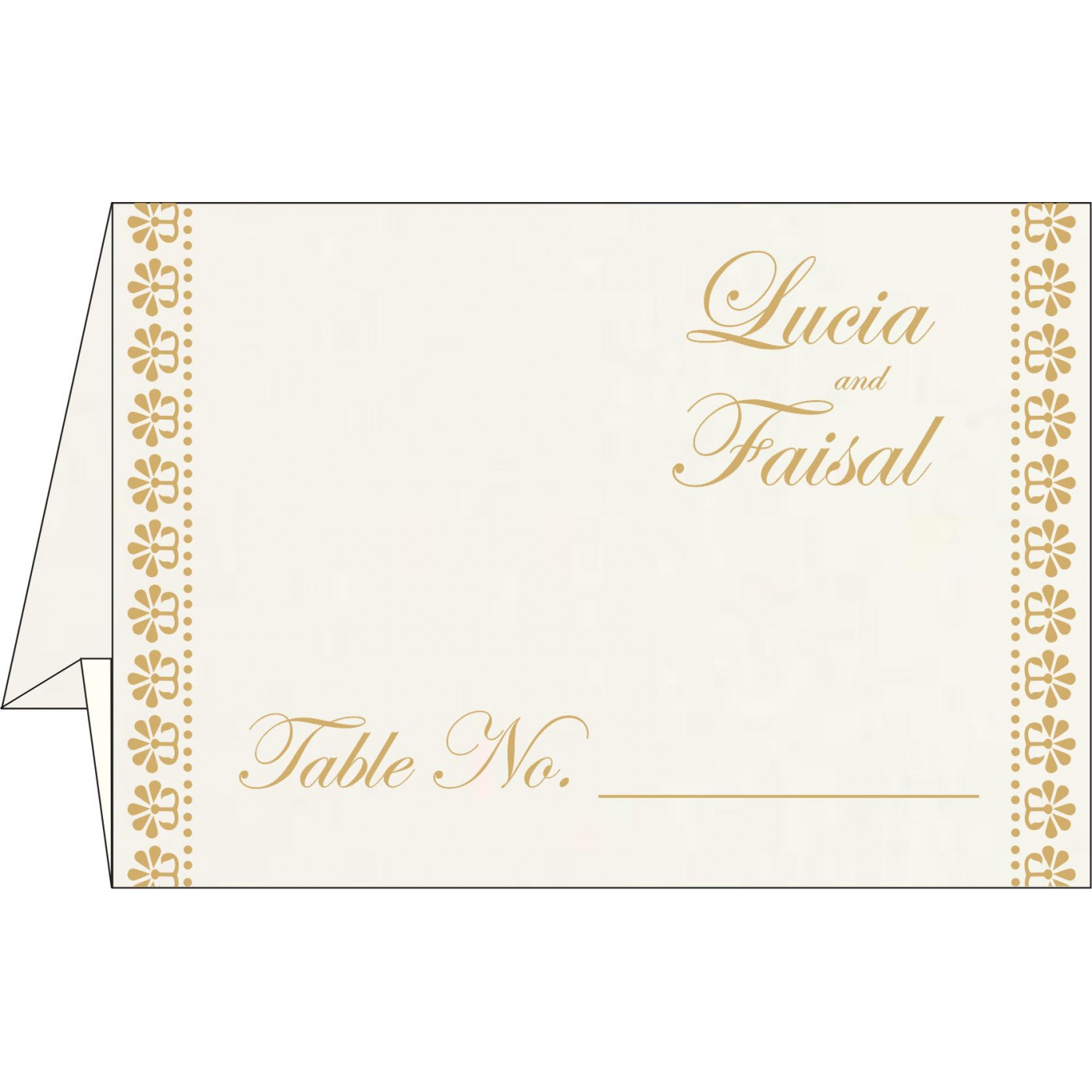 Table Cards : CTC-8231J - IndianWeddingCards