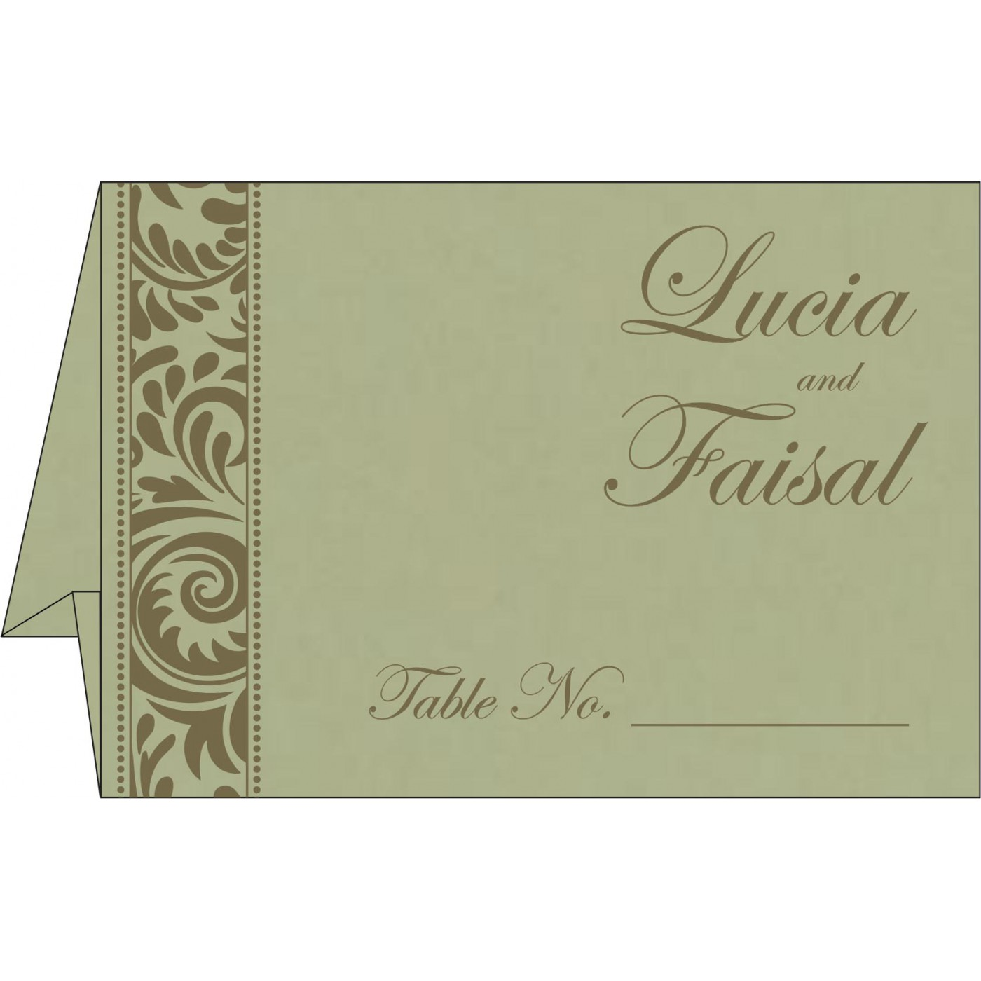Table Cards : CTC-8235A - IndianWeddingCards