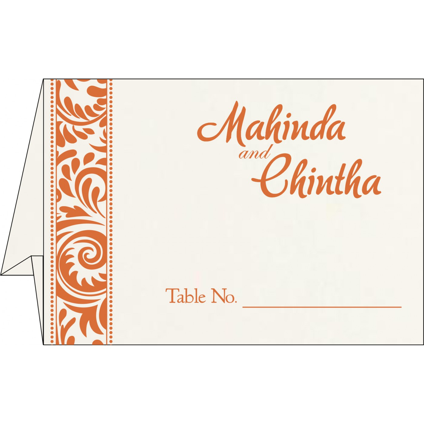 Table Cards : CTC-8235G - IndianWeddingCards