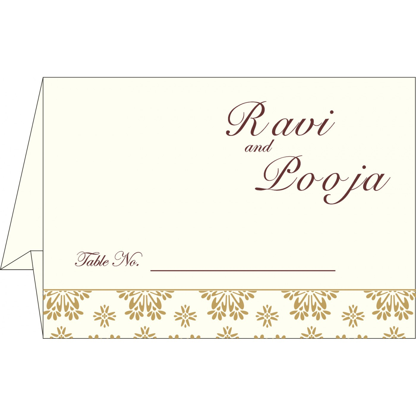 Table Cards : CTC-8237L - IndianWeddingCards