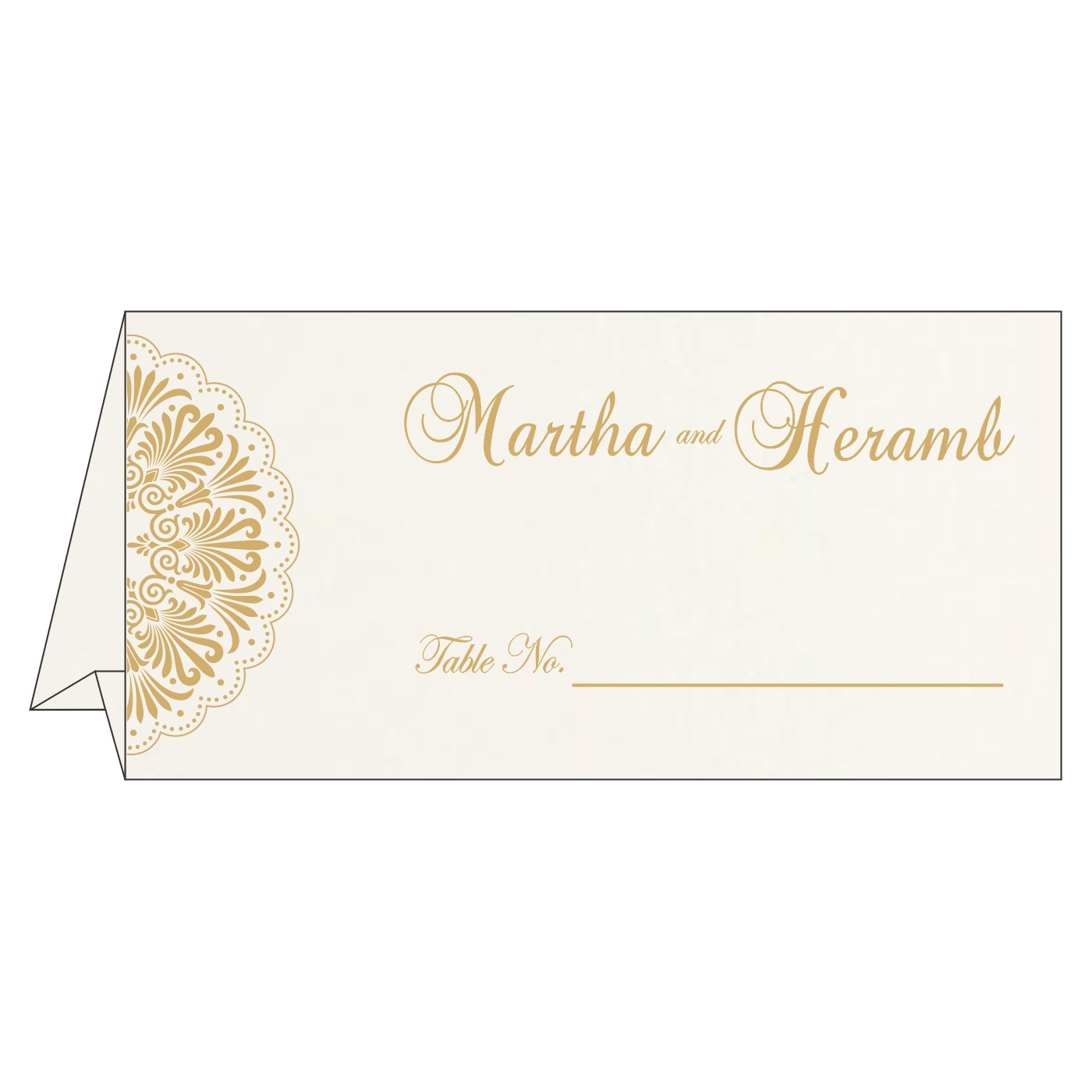 Table Cards : CTC-8238F - IndianWeddingCards