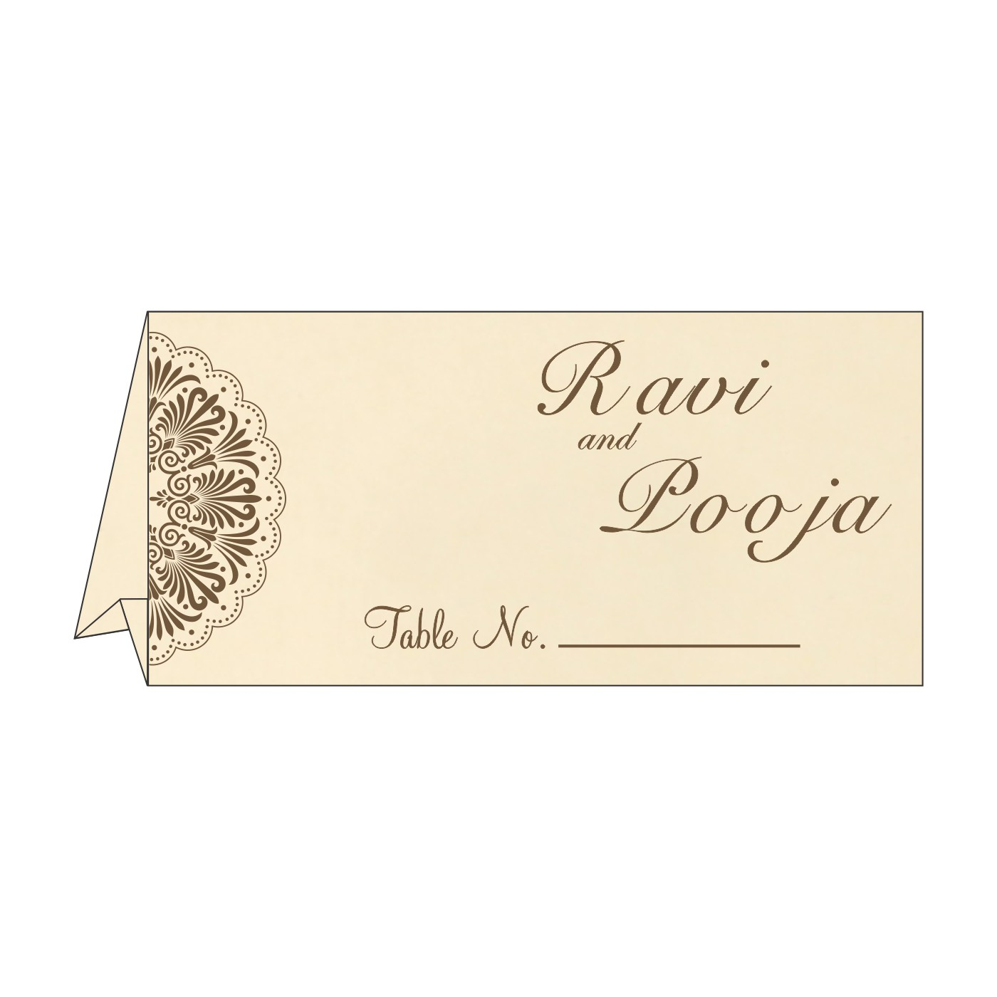 Table Cards : CTC-8238G - IndianWeddingCards