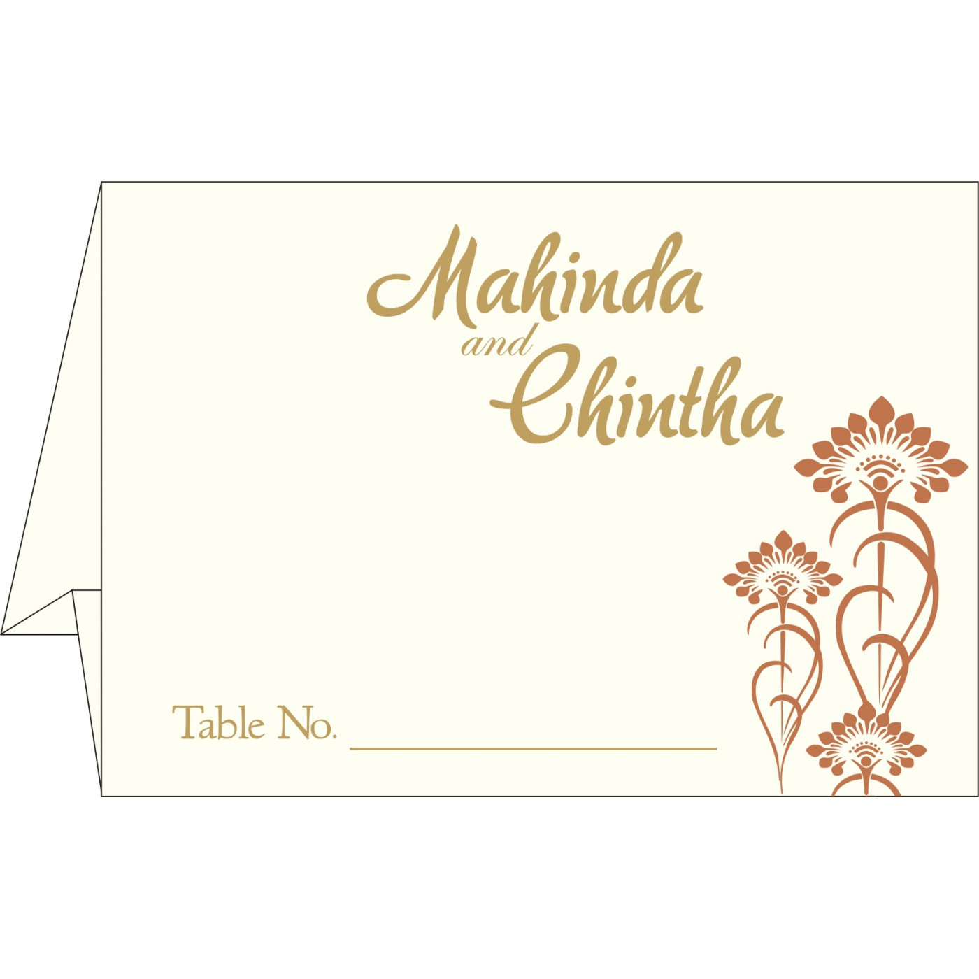 Table Cards : CTC-8239I - IndianWeddingCards