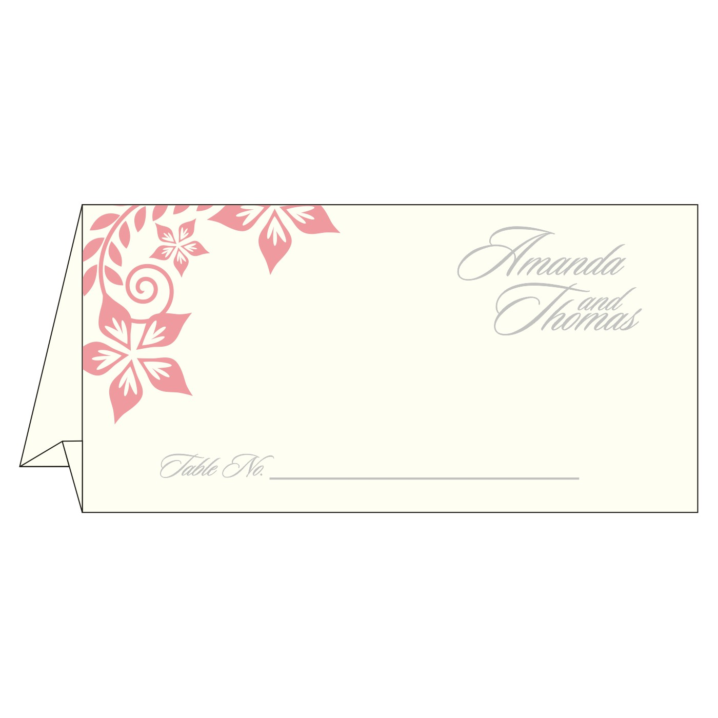 Table Cards : CTC-8240G - IndianWeddingCards