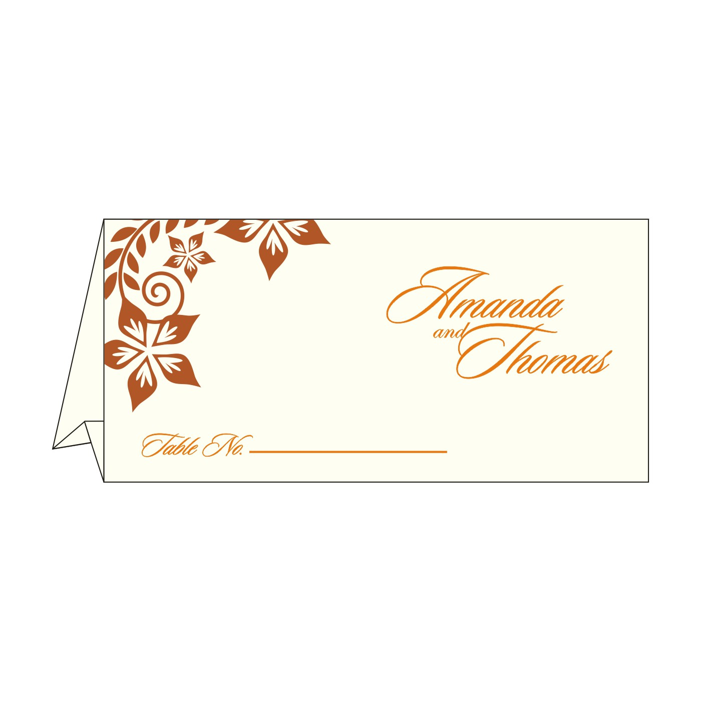Table Cards : CTC-8240M - IndianWeddingCards