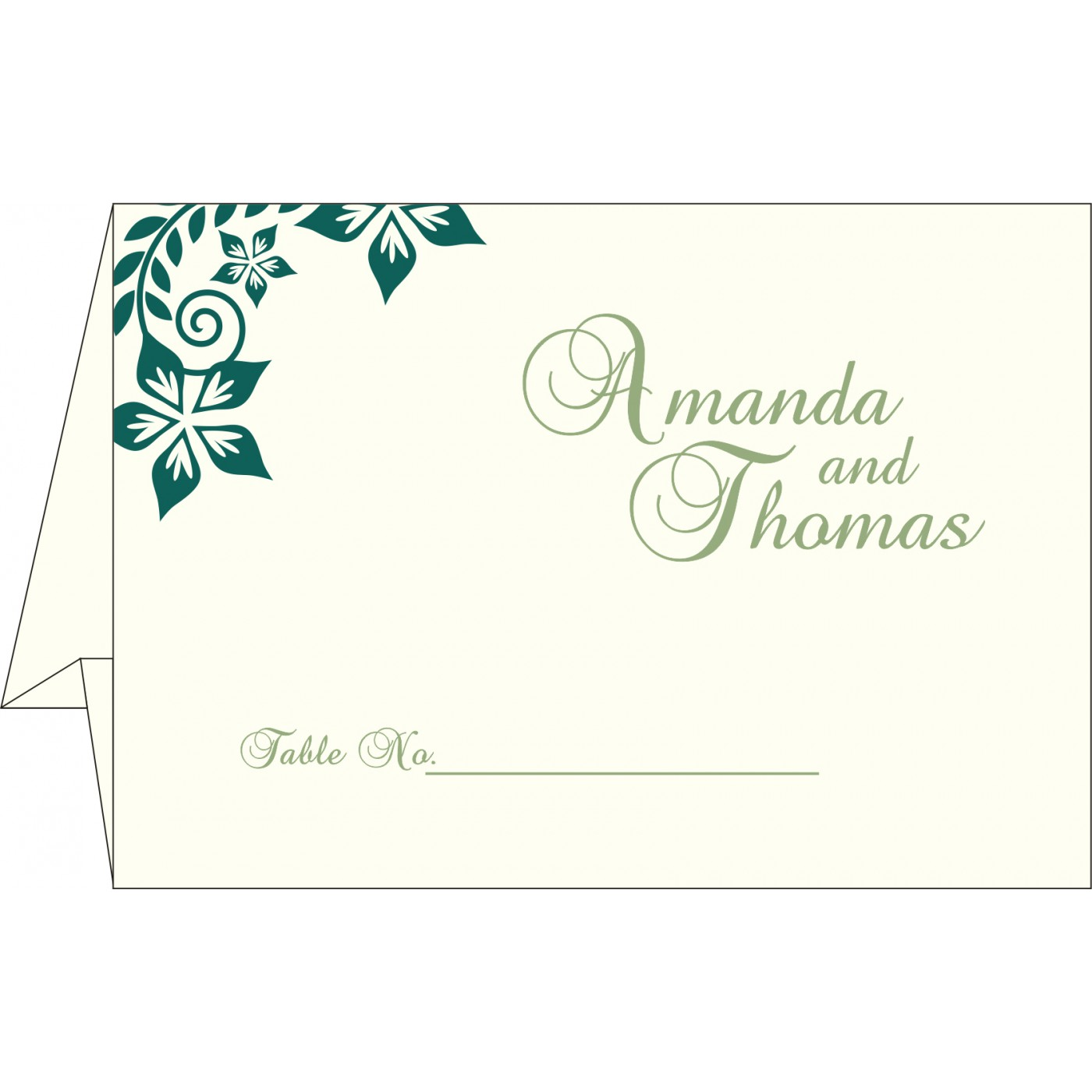 Table Cards : CTC-8240N - IndianWeddingCards